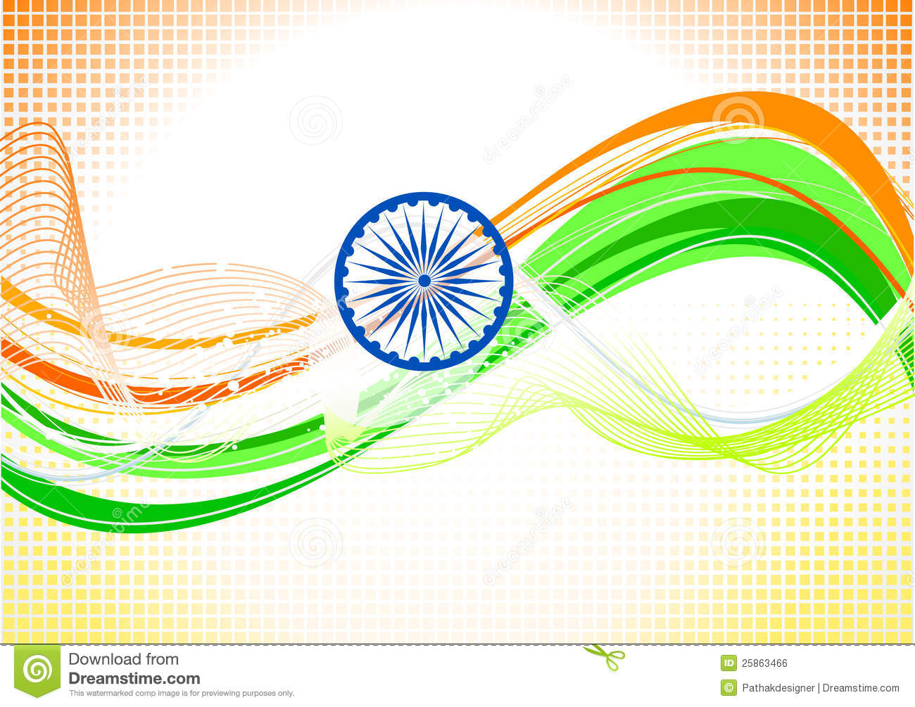 Abstract Indian Independence Day Wallpaper Stock Vector