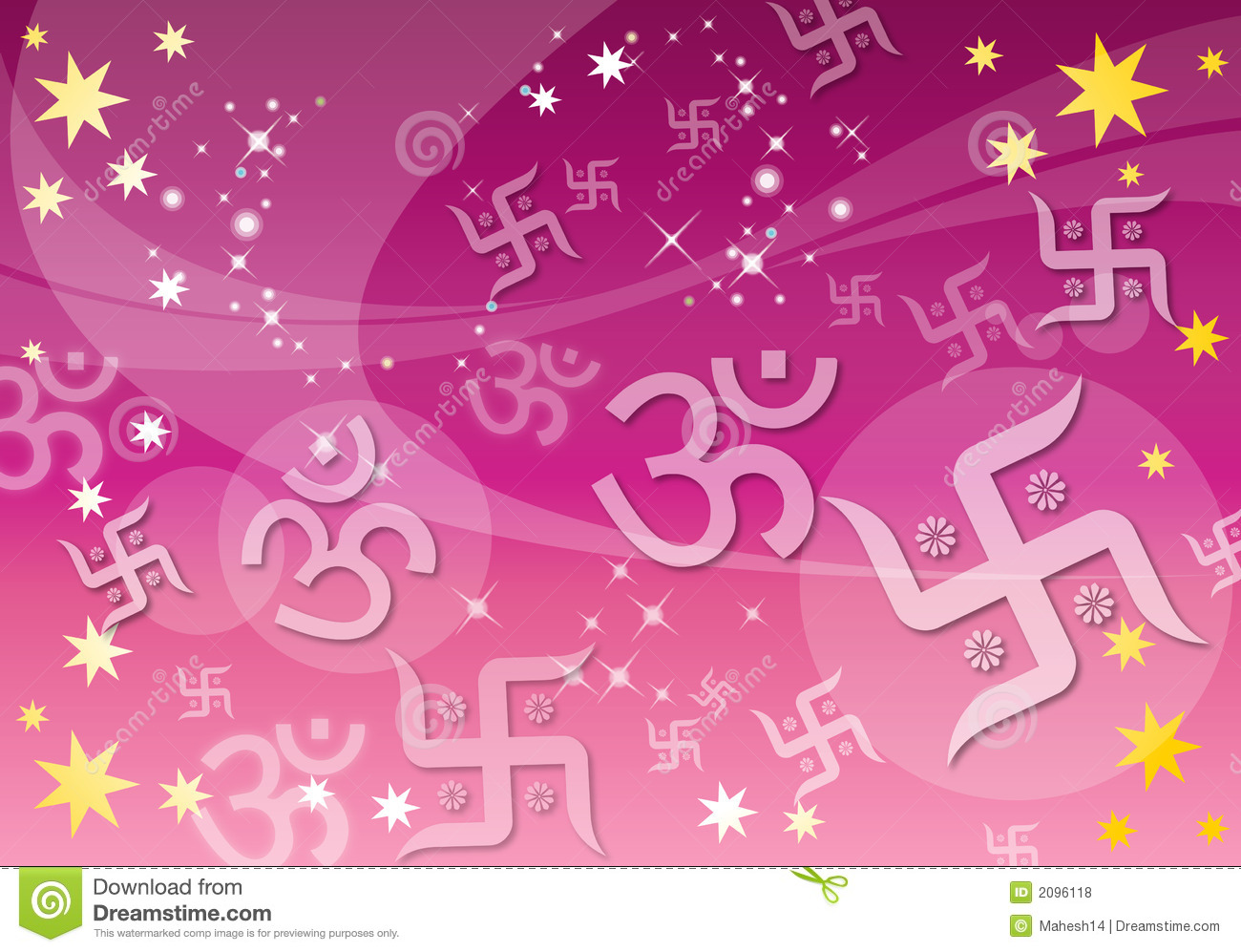 Abstract Indian Spiritual Background Stock Illustration