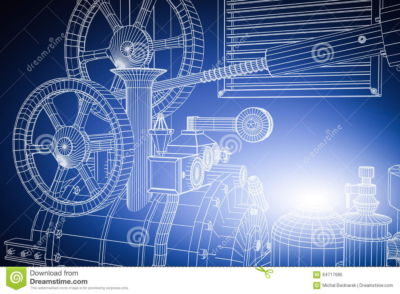 Industrial Technology Abstract Background. Industry Stock Photo ...