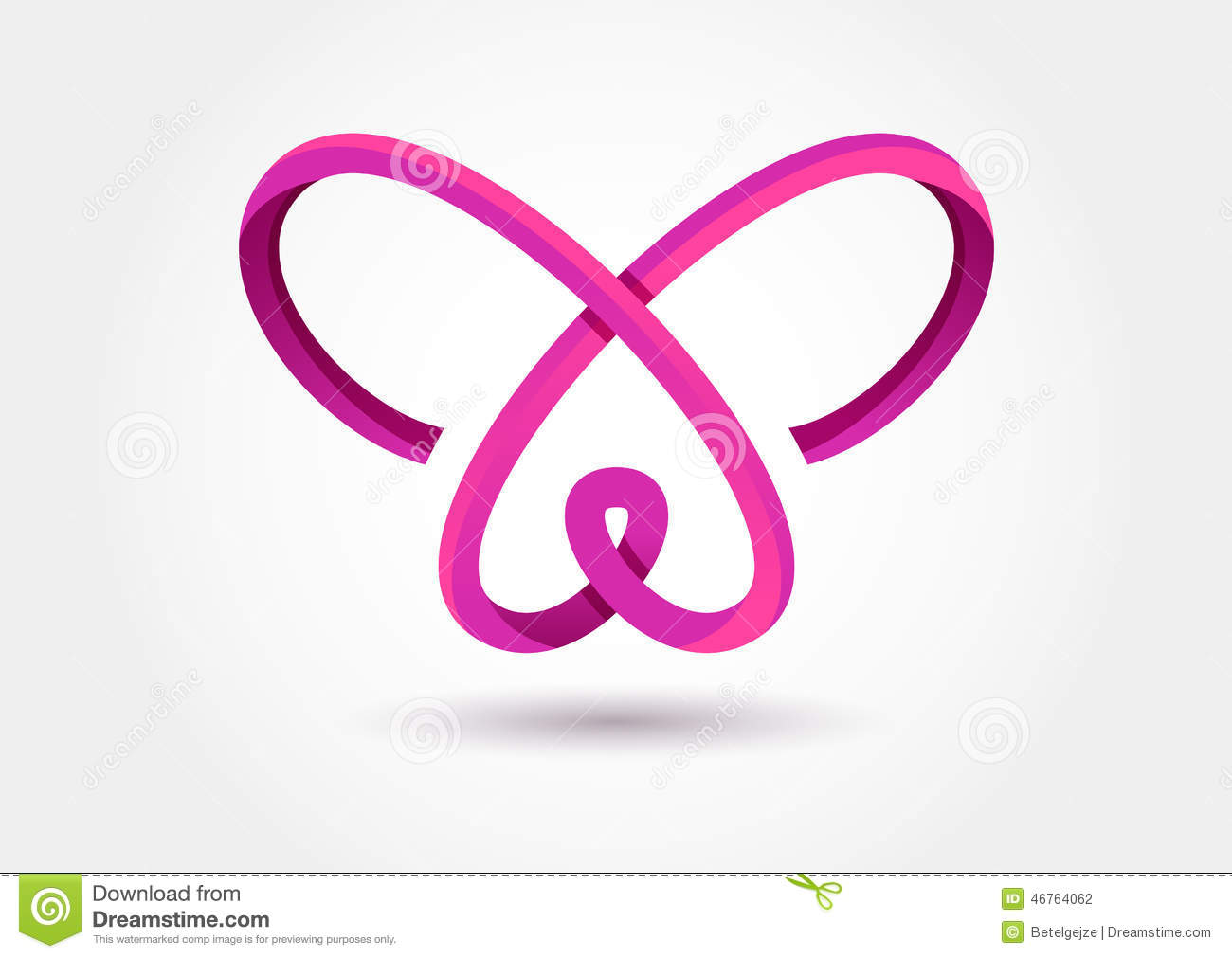 Abstract Infinity Butterfly Symbol Vector Logo Template