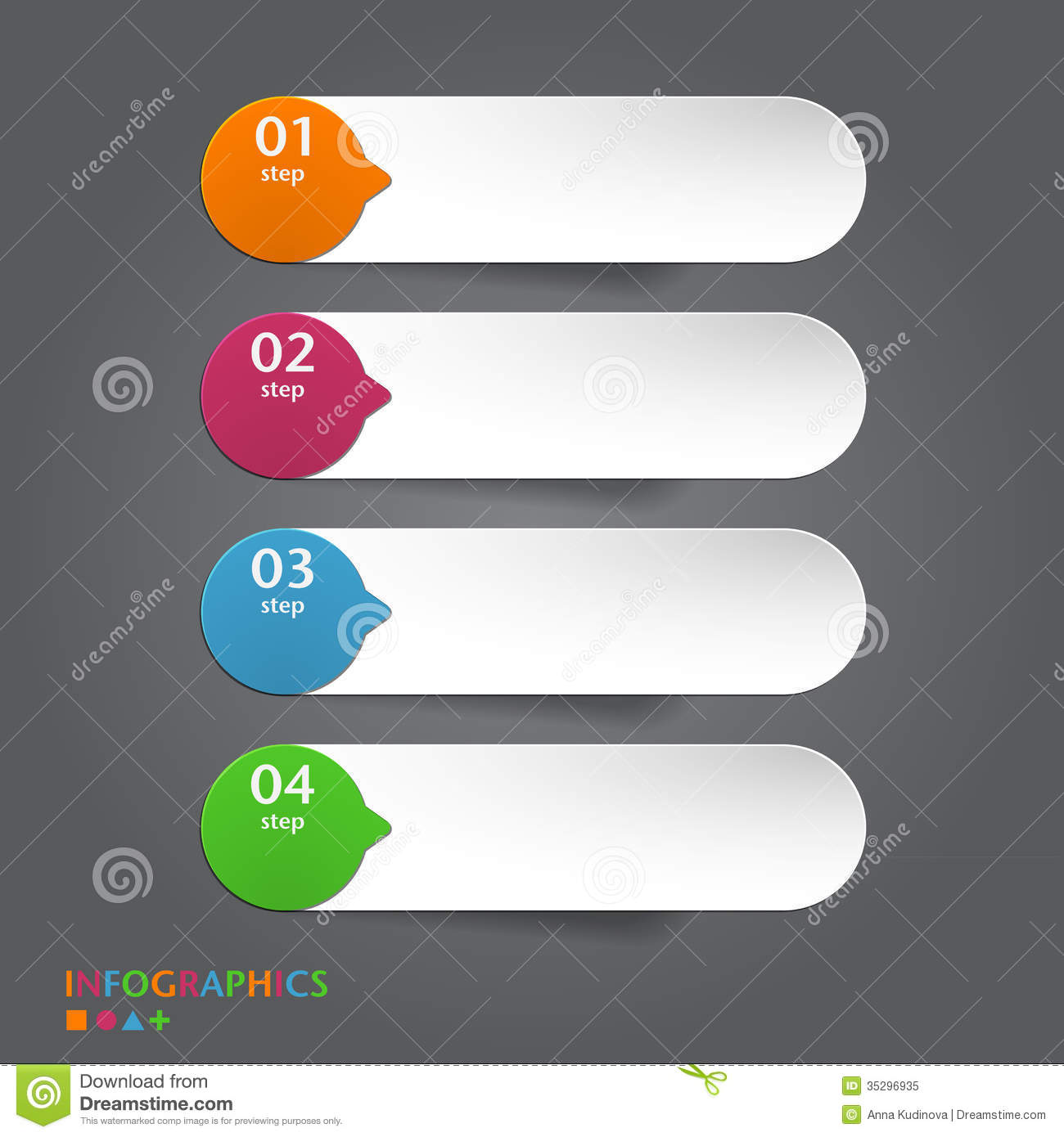 abstract infographics banner label tag designs t stock vector