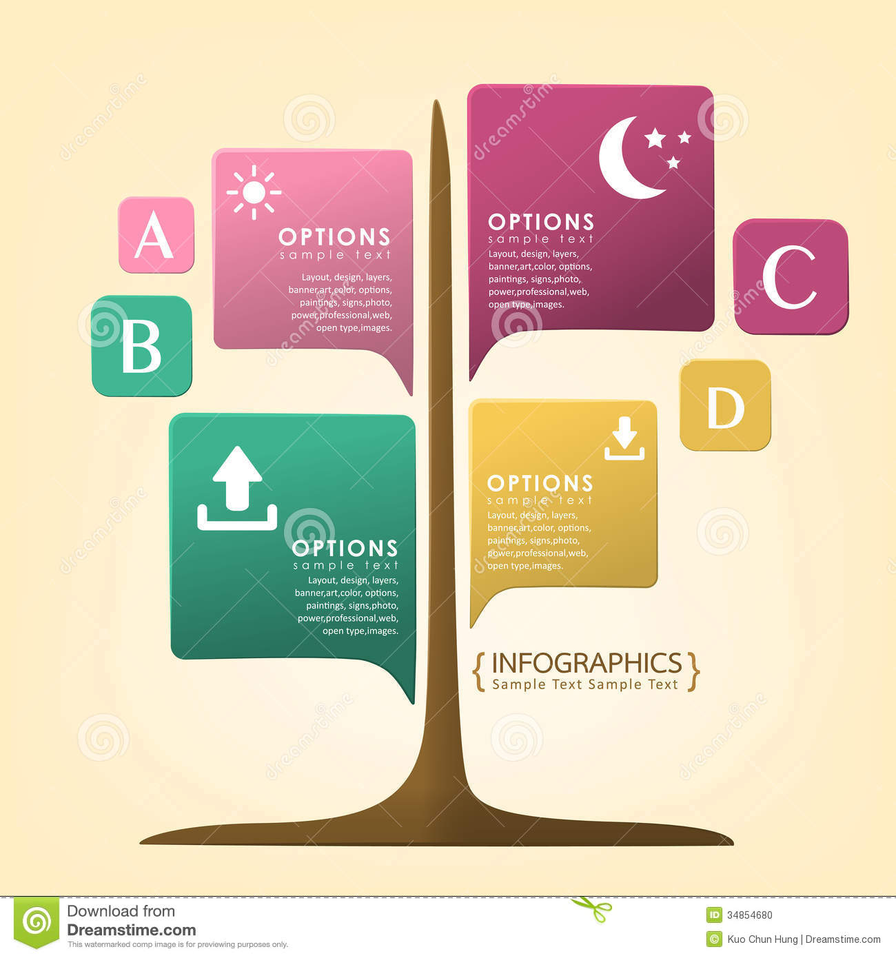 Abstract Infographics Design Stock Photo - Image: 34854680