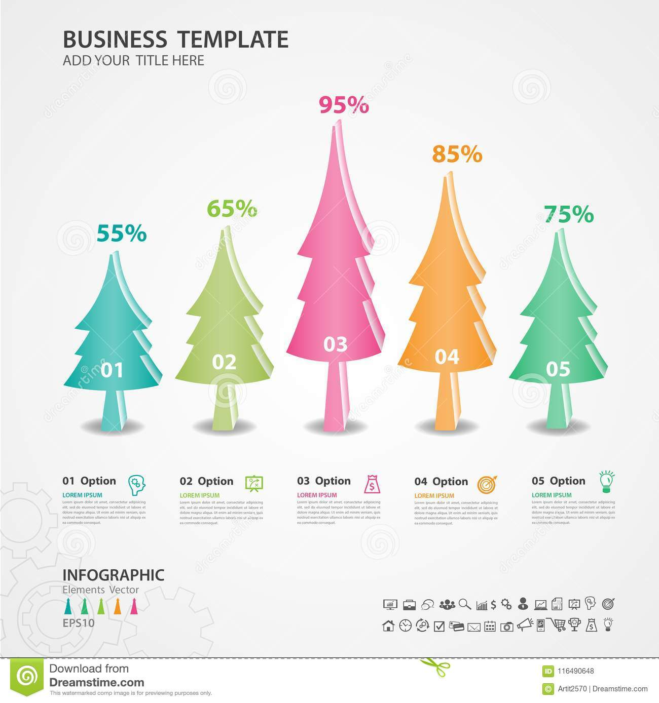 abstract infographics number options template diagram chart