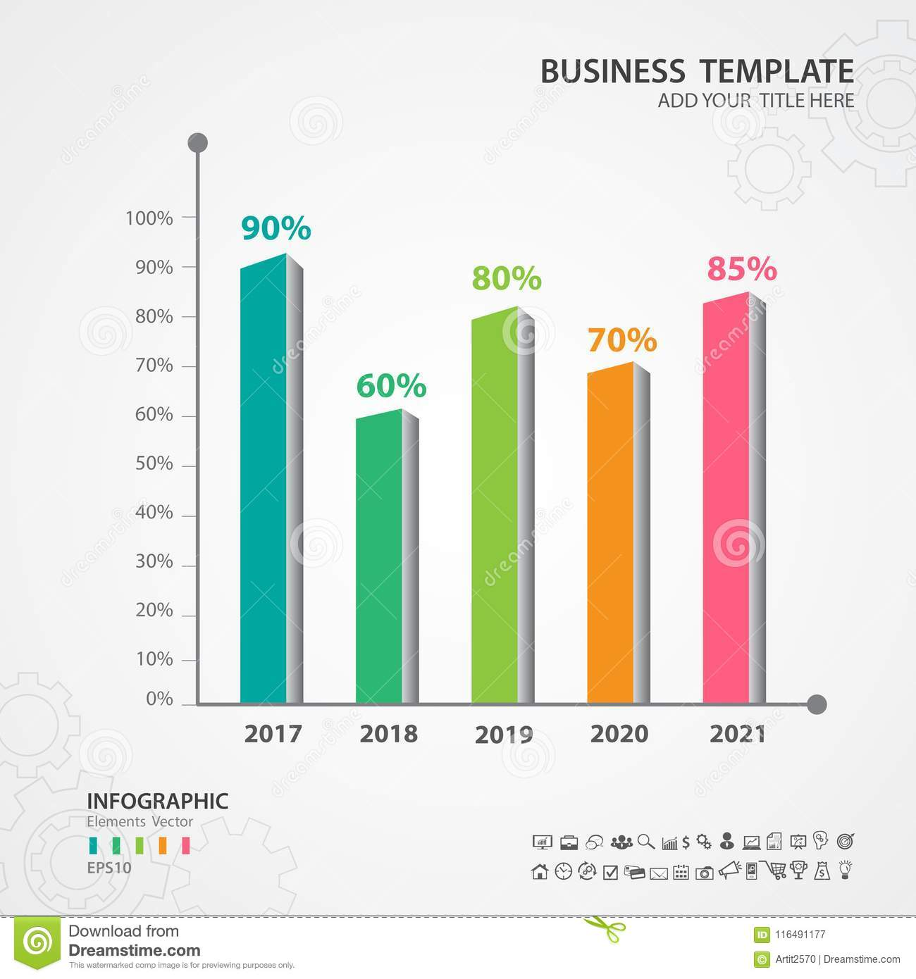 Abstract Infographics Number Options Template Rectangular 3d Chart