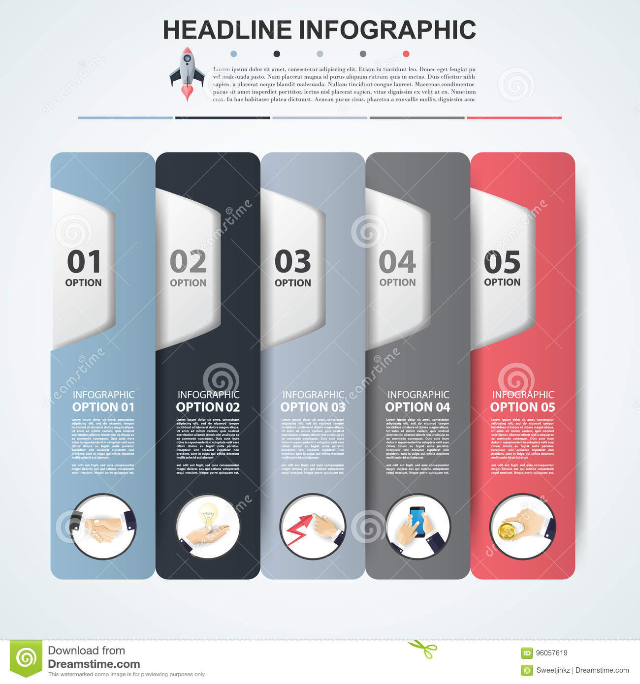 Abstract infographics number options template. Vector illustration. Can be used for workflow layout, diagram, business step