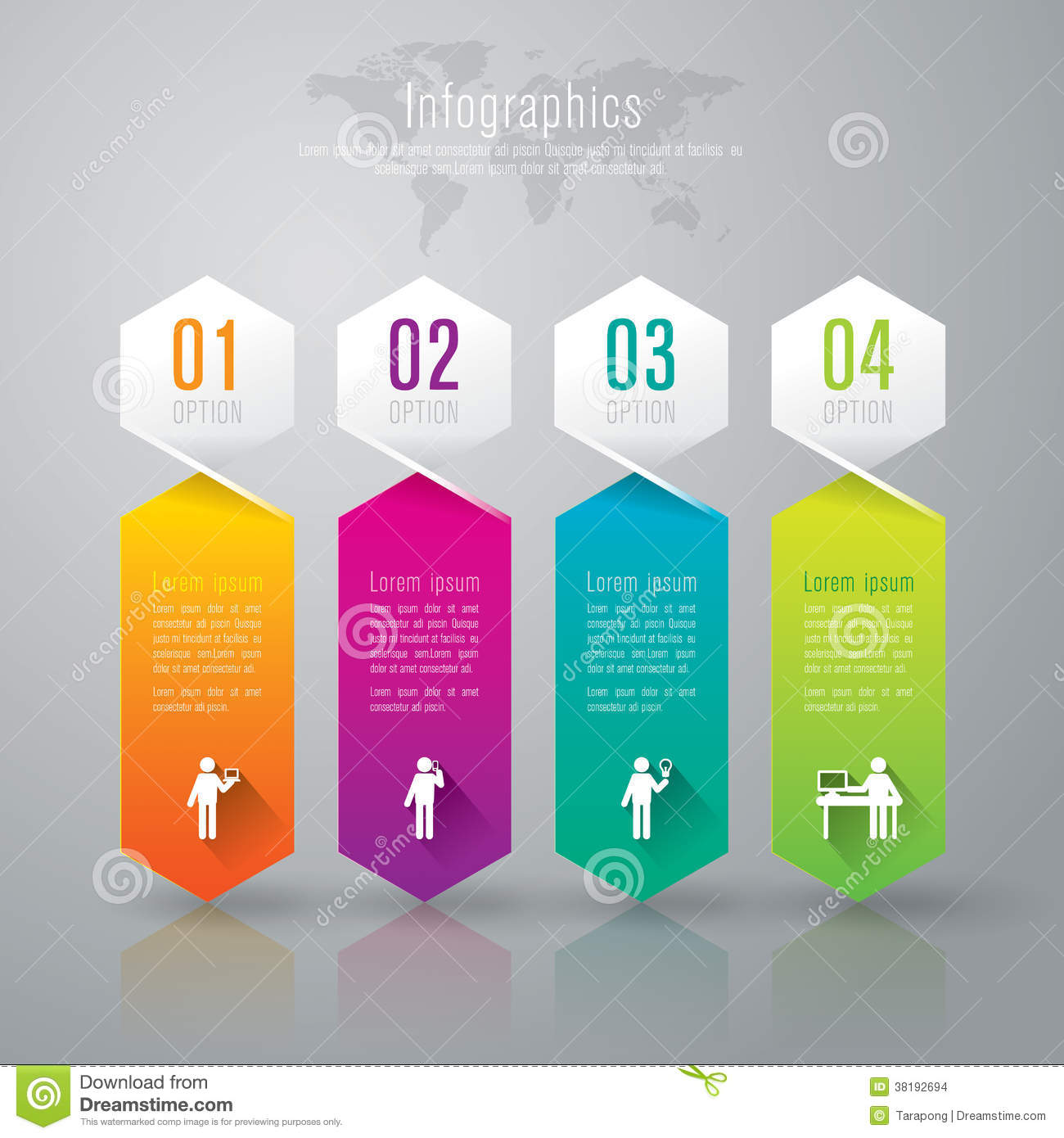 Download Abstract Infographics Template Design. Stock Vector - Illustration of info, background: 38192694