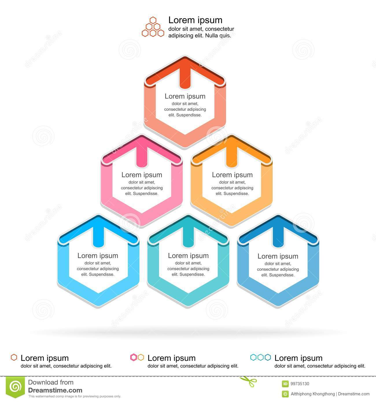 abstract infographics template layered pyramid chart diagram