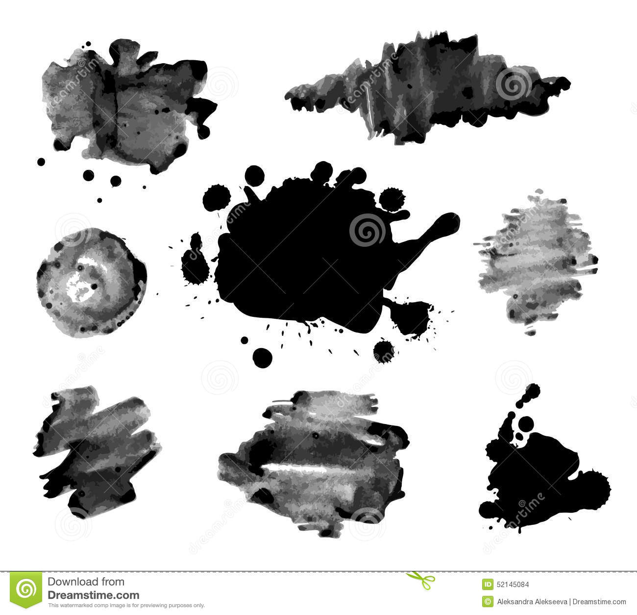Abstract Ink Paint Texture Vector Stock Vector
