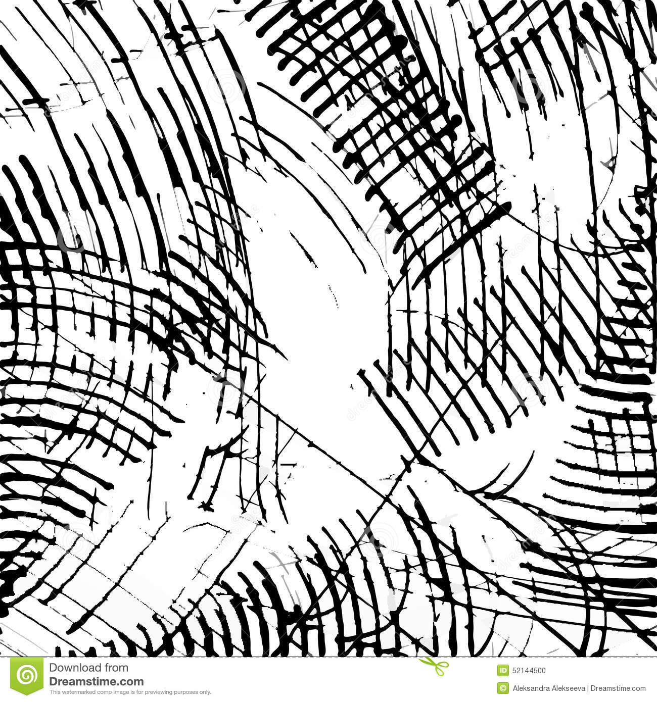 Abstract ink scratch texture vector