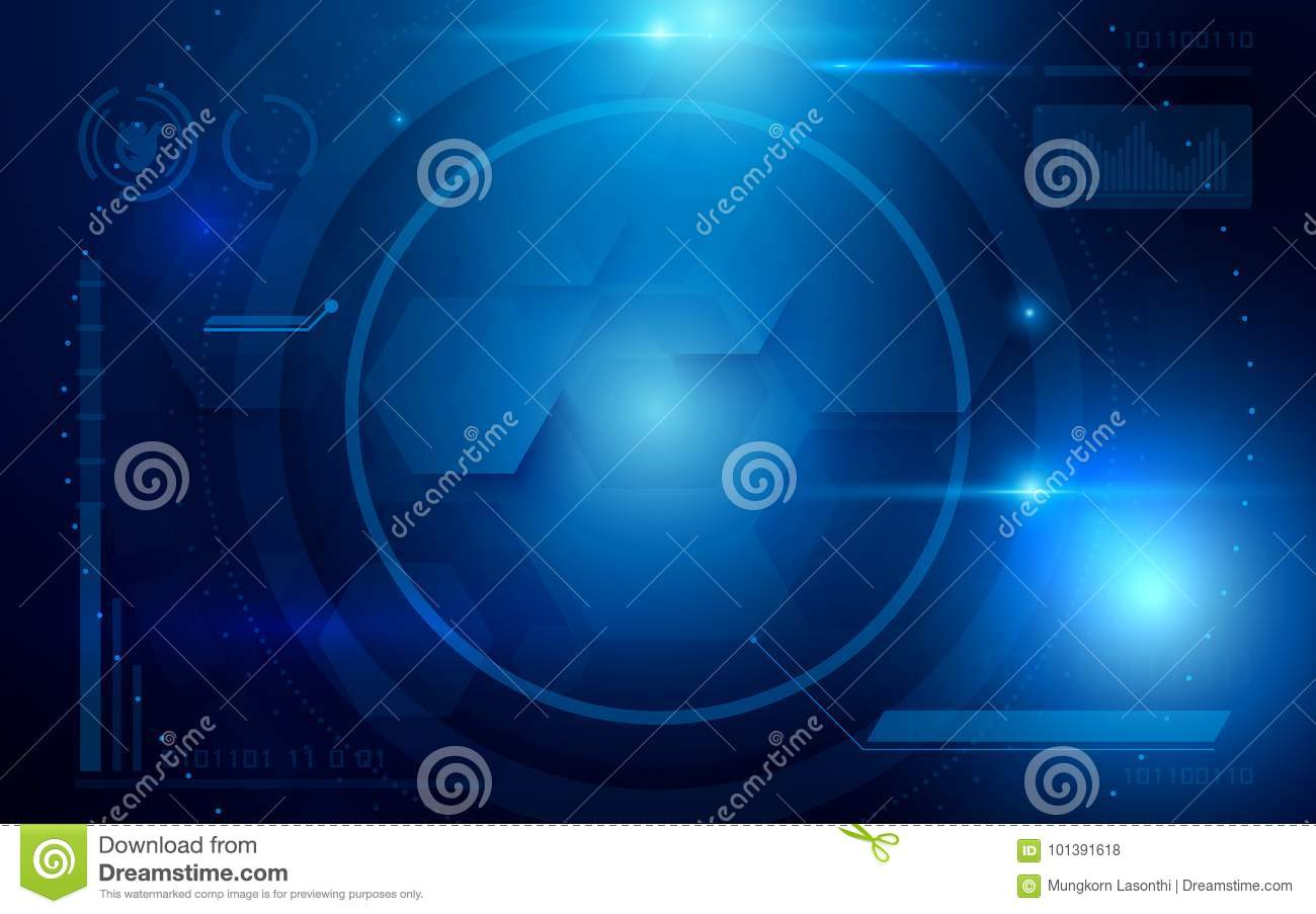 Download Abstract Interface Virtual Future Technology System Health And Care Info Concept On Blue Background Stock