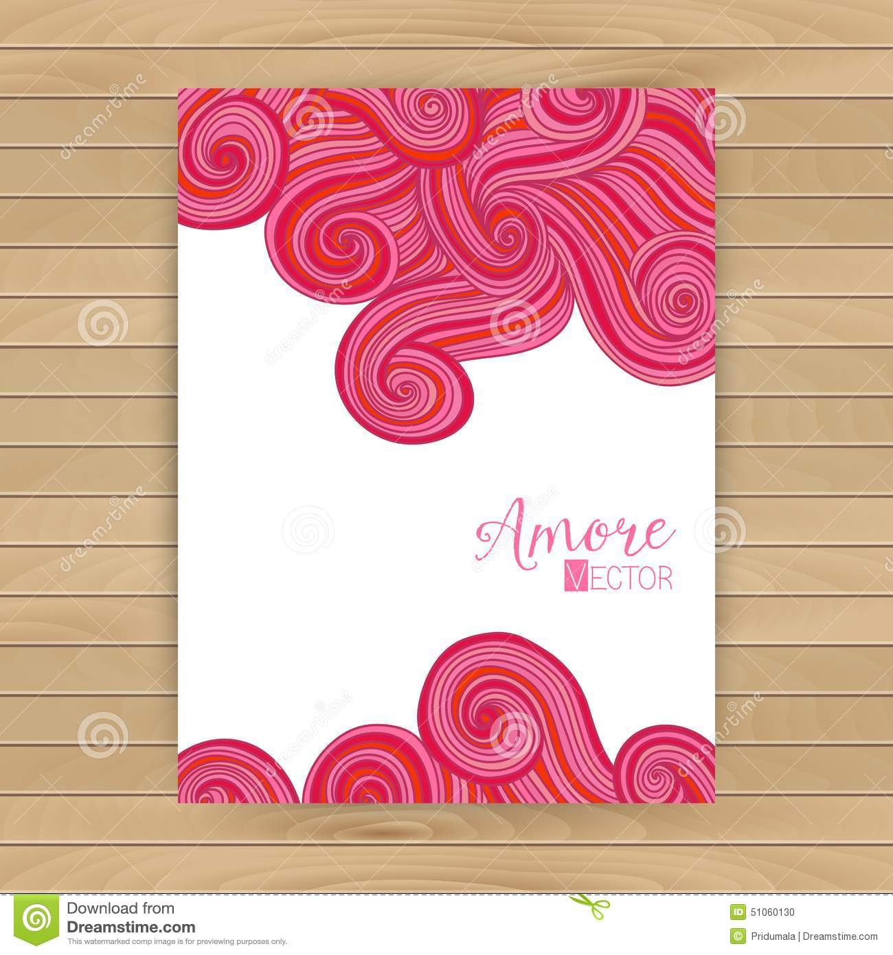 Abstract Invitation Card With Abstract Wave Template Wavy Frame