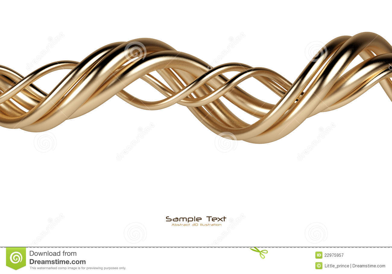 Abstract isolated gold lines background