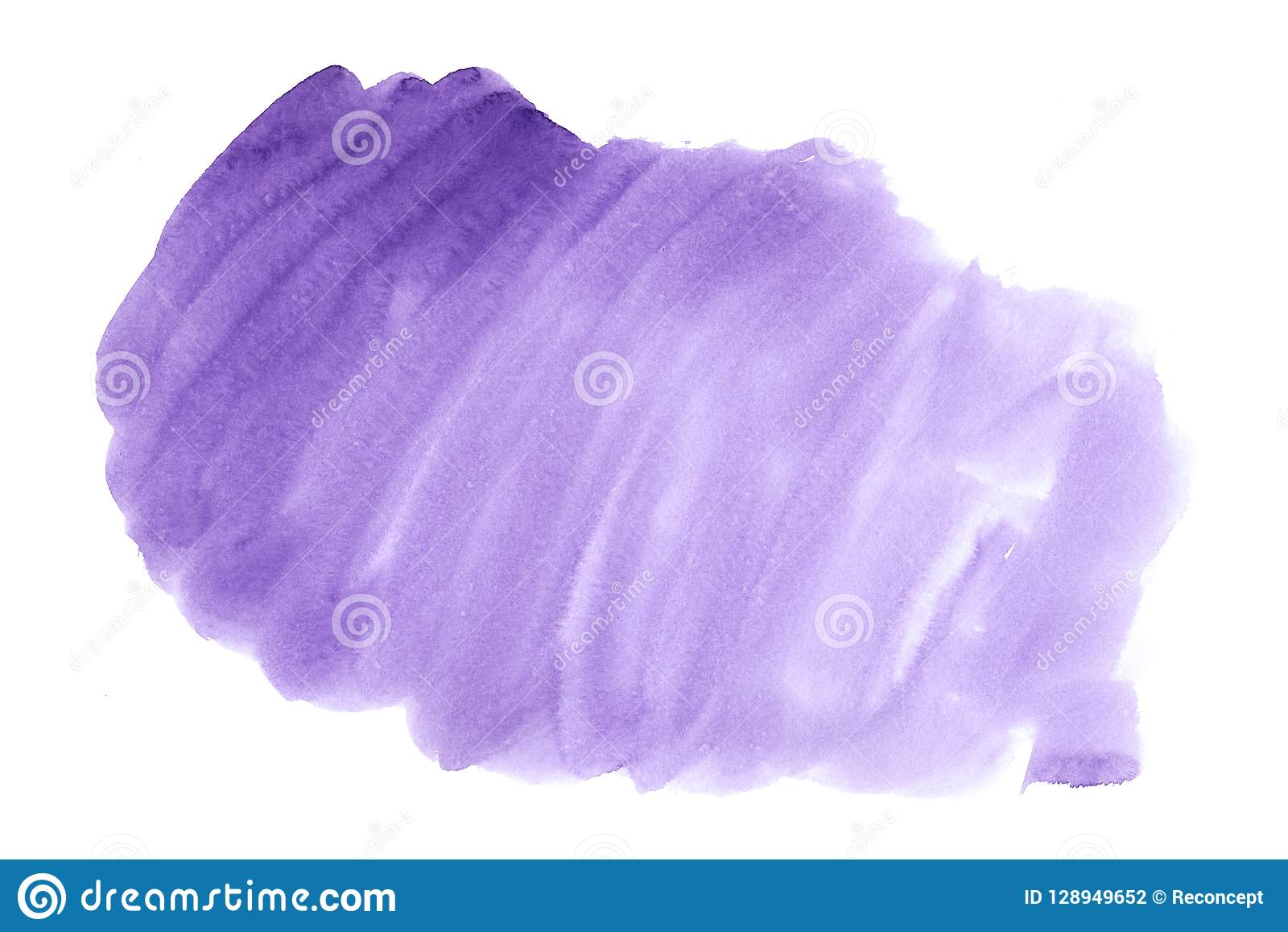 Purple Abstract Watercolor Art Hand Paint On White
