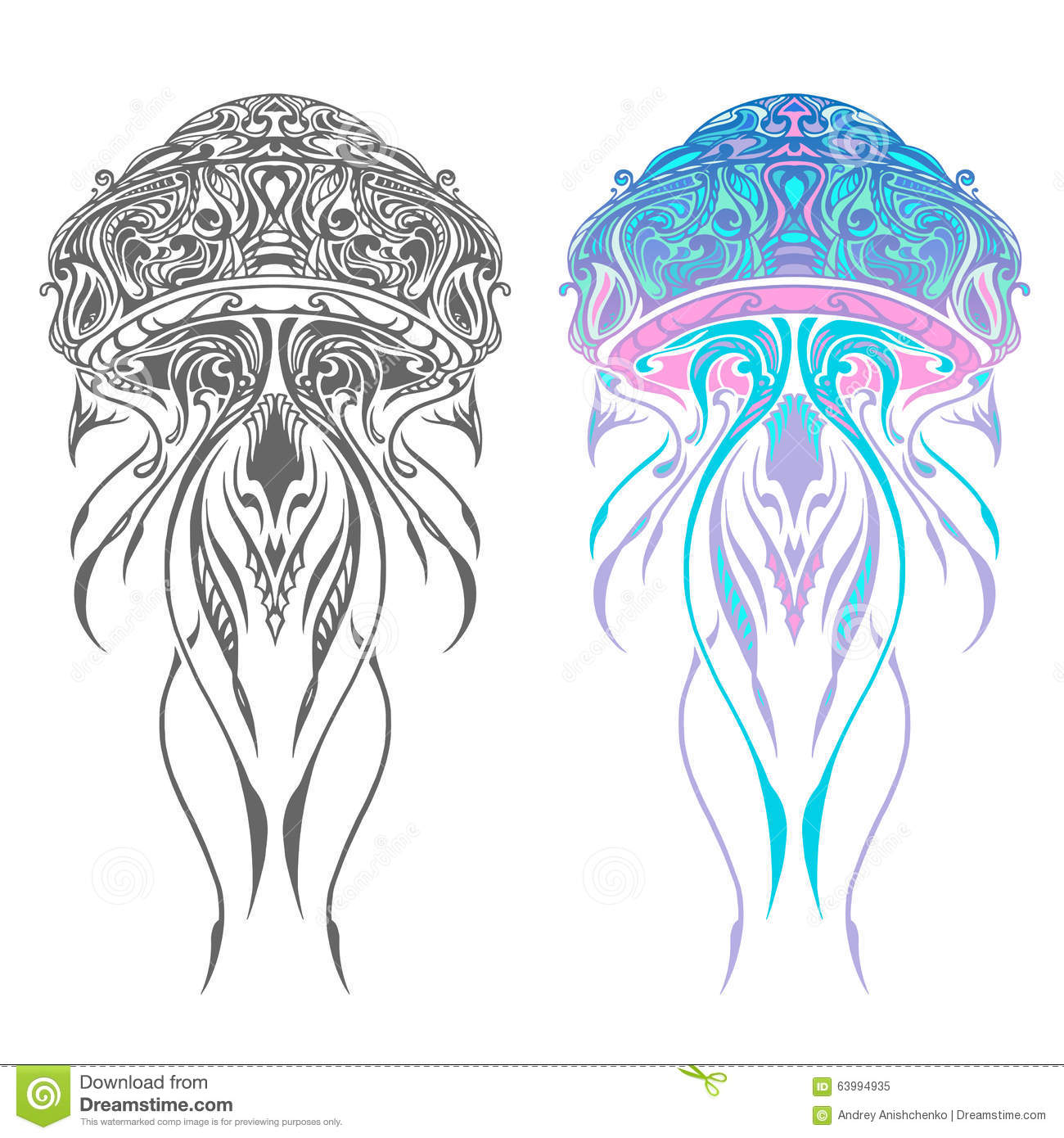 Abstract Jellyfish Artwork