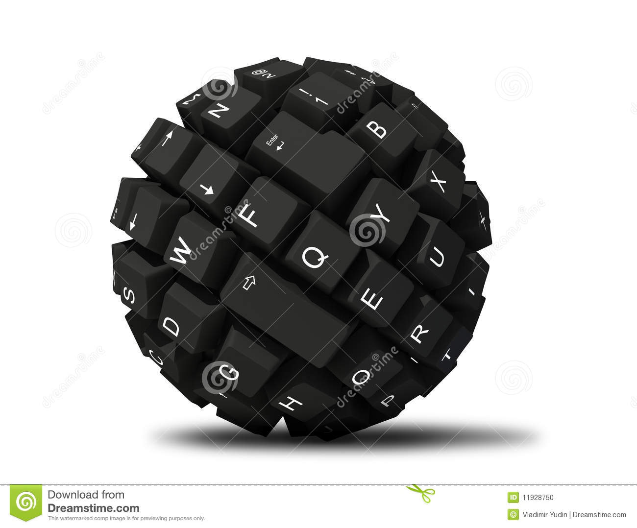 Abstract Keyboard Ball Stock Photo Image 11928750