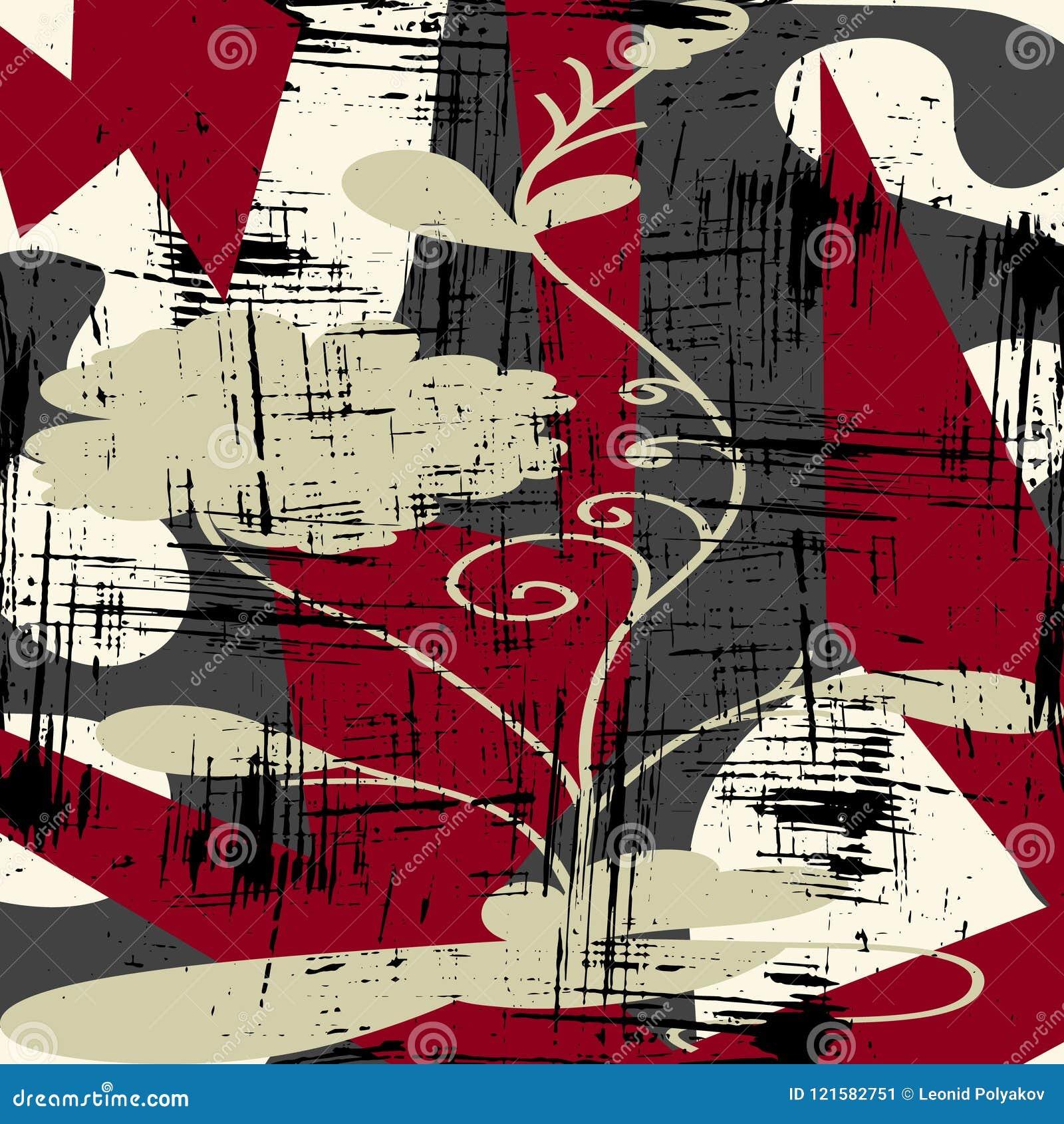 Abstract kleurenpatroon in de kwaliteits vectorillustratie van de graffitistijl voor uw ontwerp