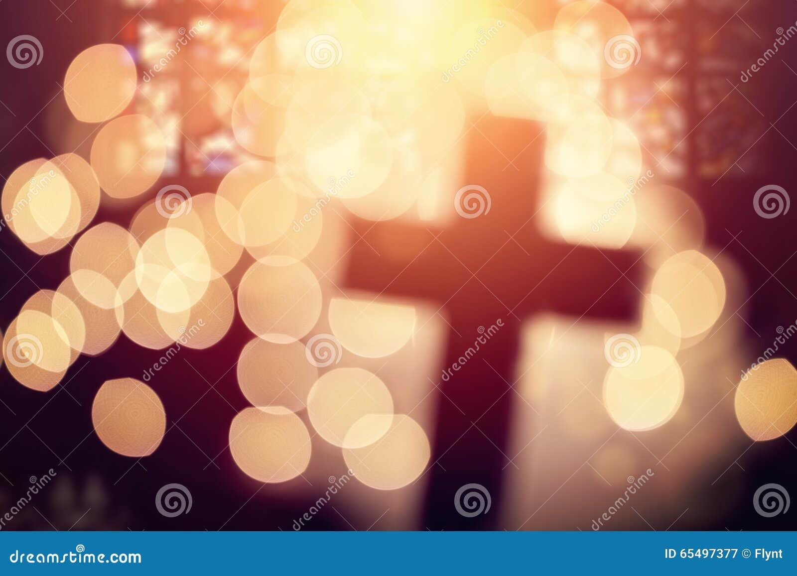 Abstract kruis in kerkbinnenland
