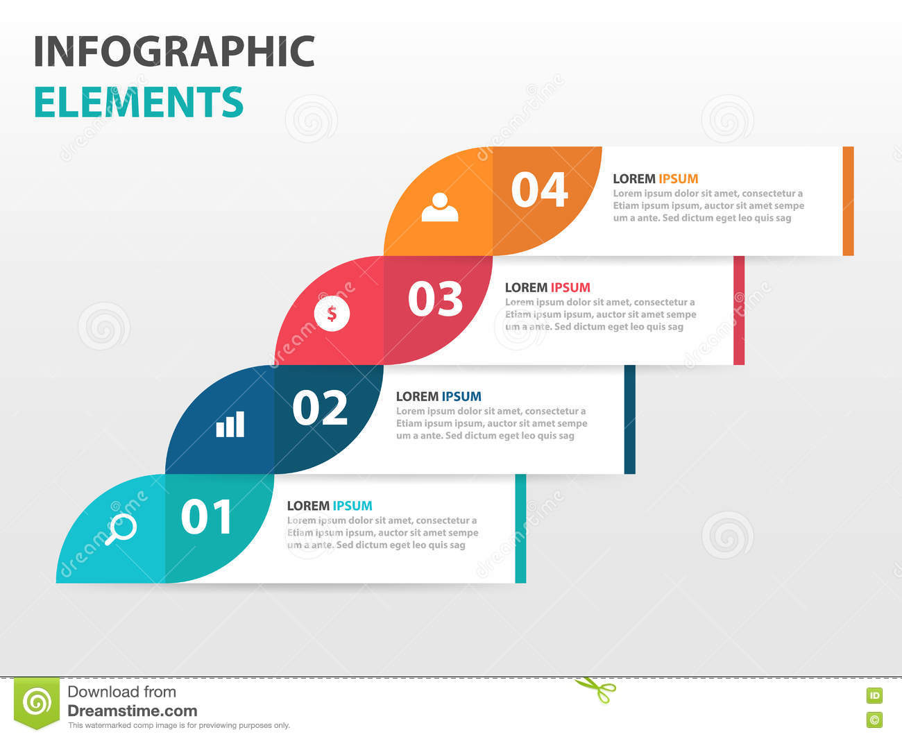 Abstract Label Business Timeline Infographics Elements ...