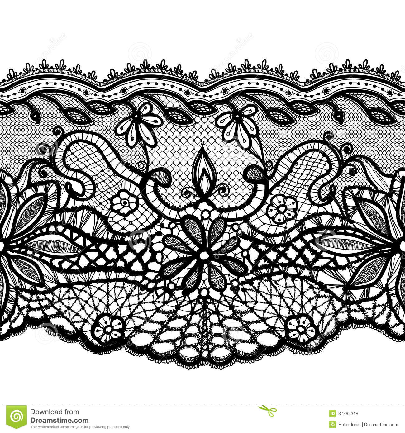 Abstract lace ornament