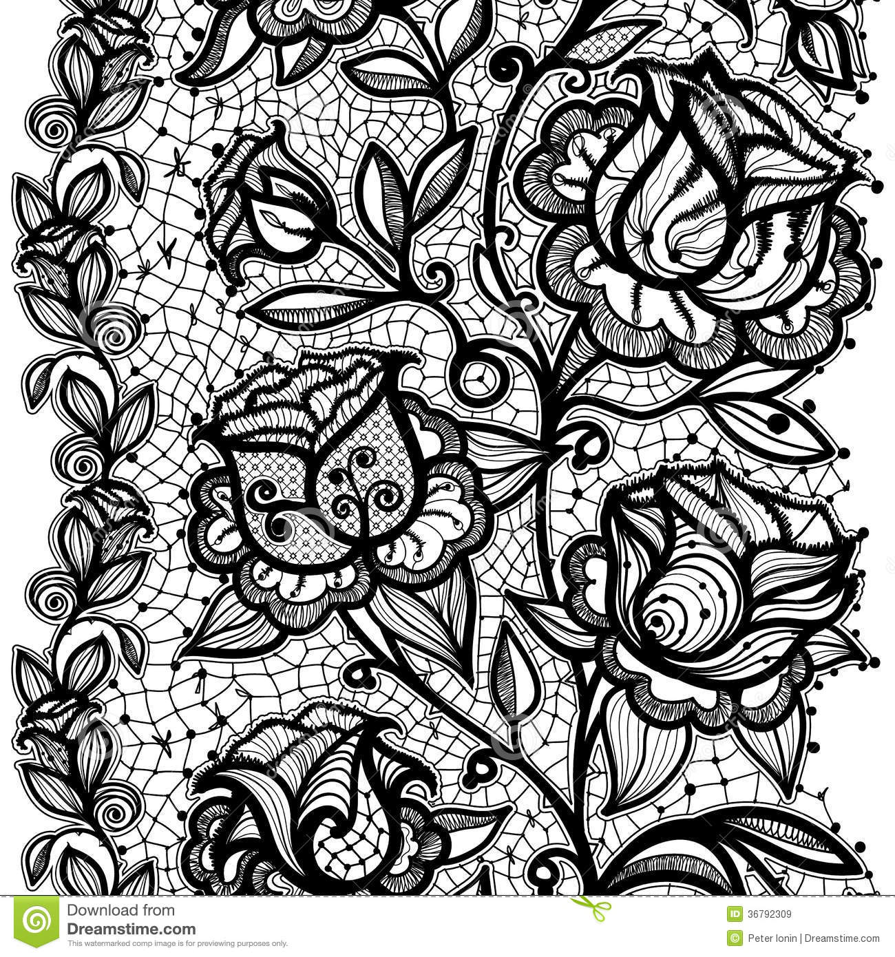 Abstract Lace Ribbon Pattern Royalty Free Stock Images