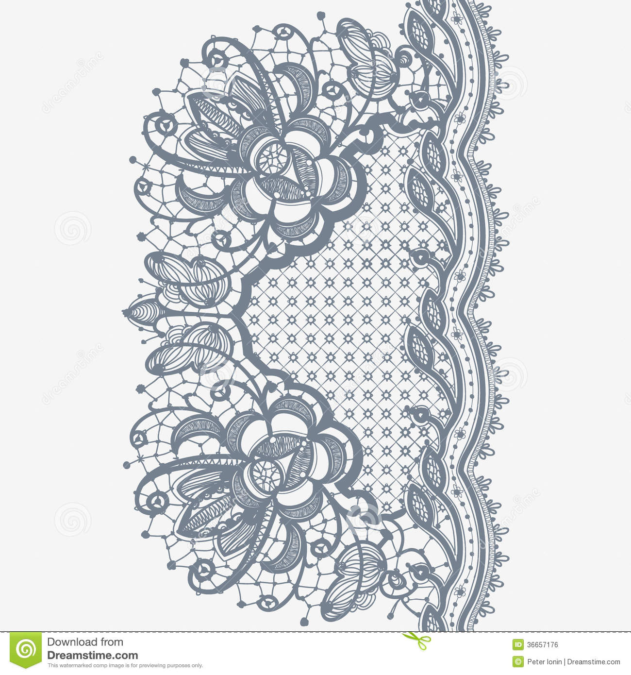 Abstract Lace Ribbon stock vector. Illustration of lace - 36657176
