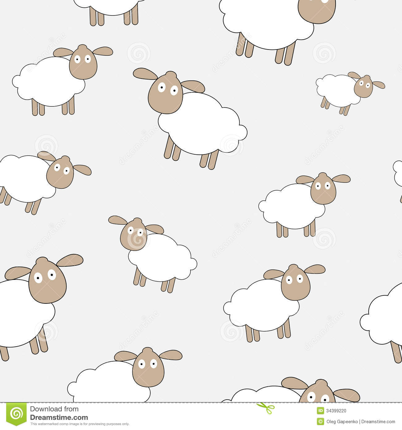 Abstract Lamb Seamless Pattern Background Vector Stock Photo - Image ...