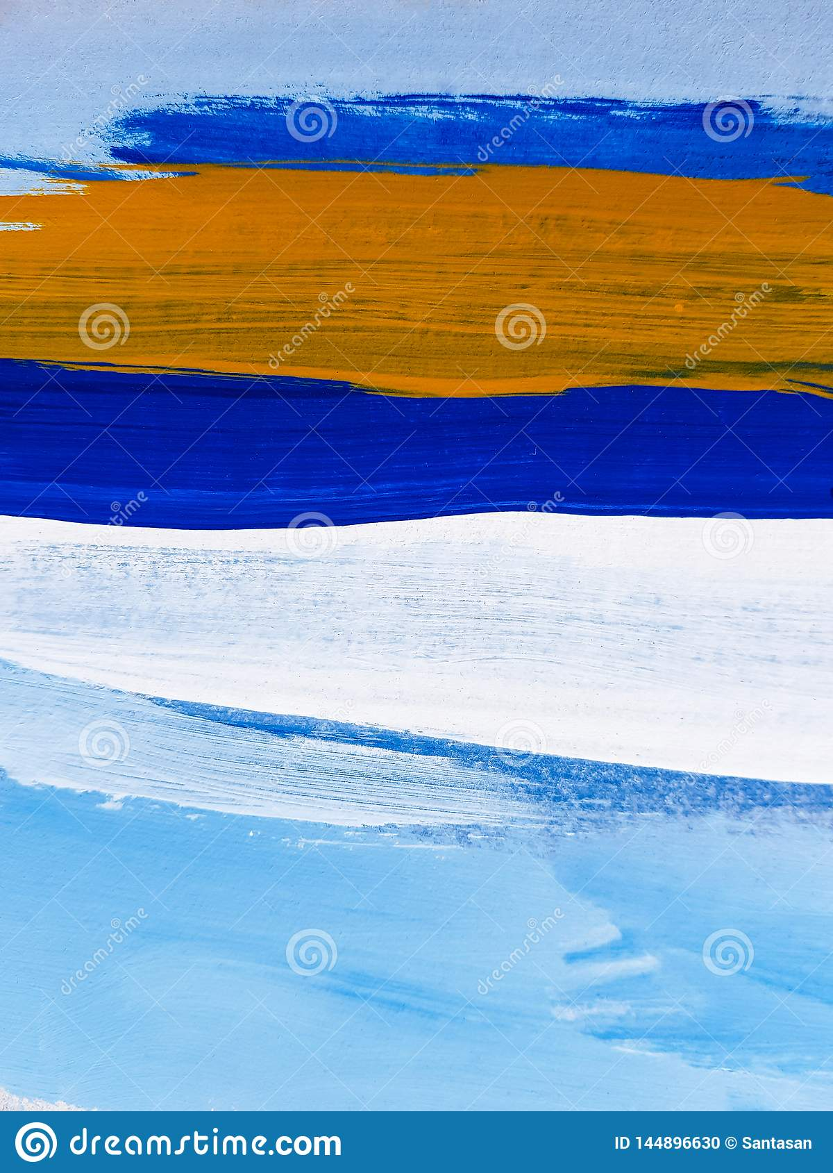 Abstract Landscape Art Painting Background. Modern art.