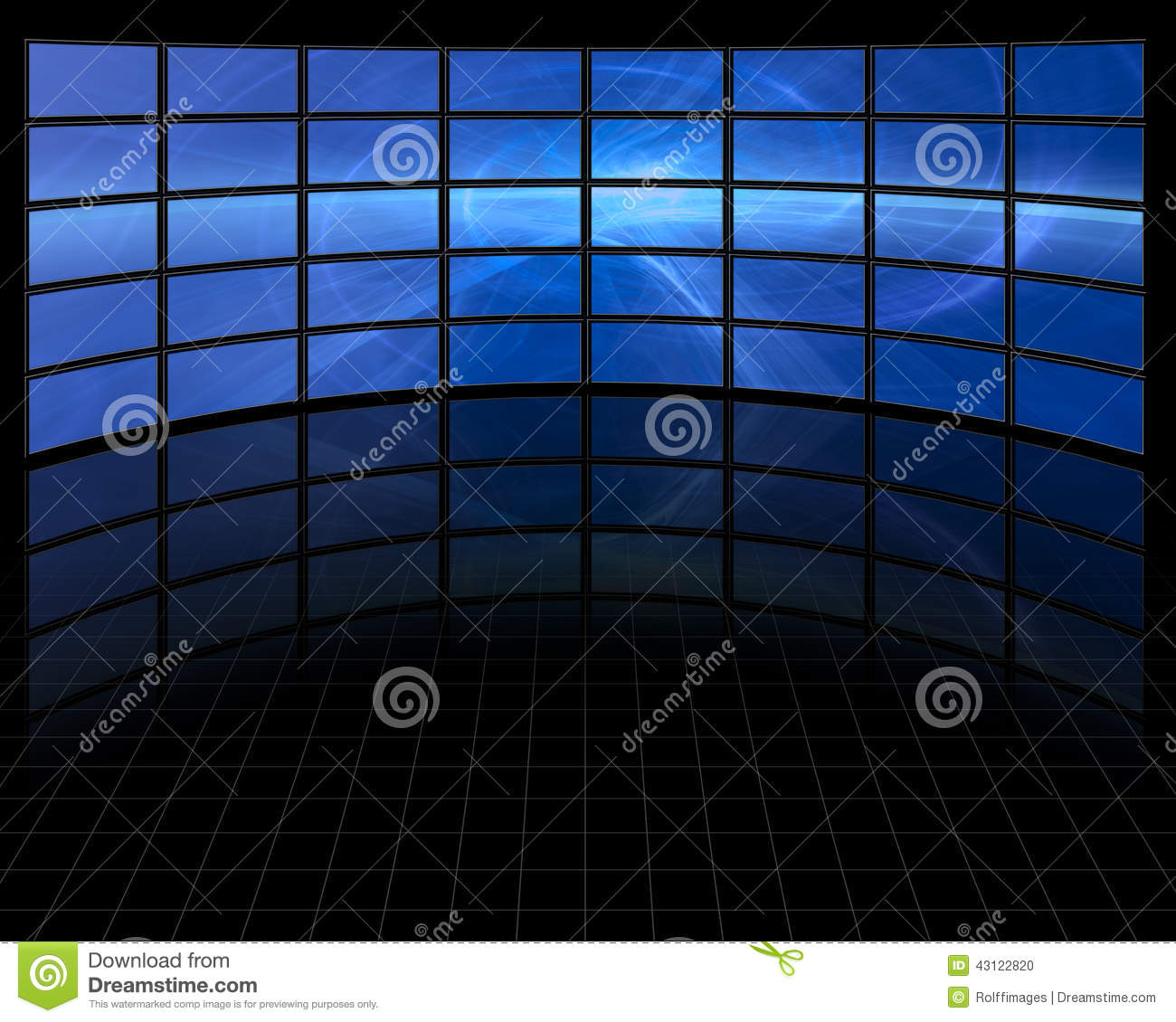 Abstract on Large Set Screens