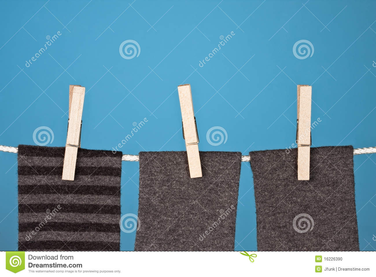 Download Abstract Laundry on Blue stock photo. Image of hung, colorful - 16226390