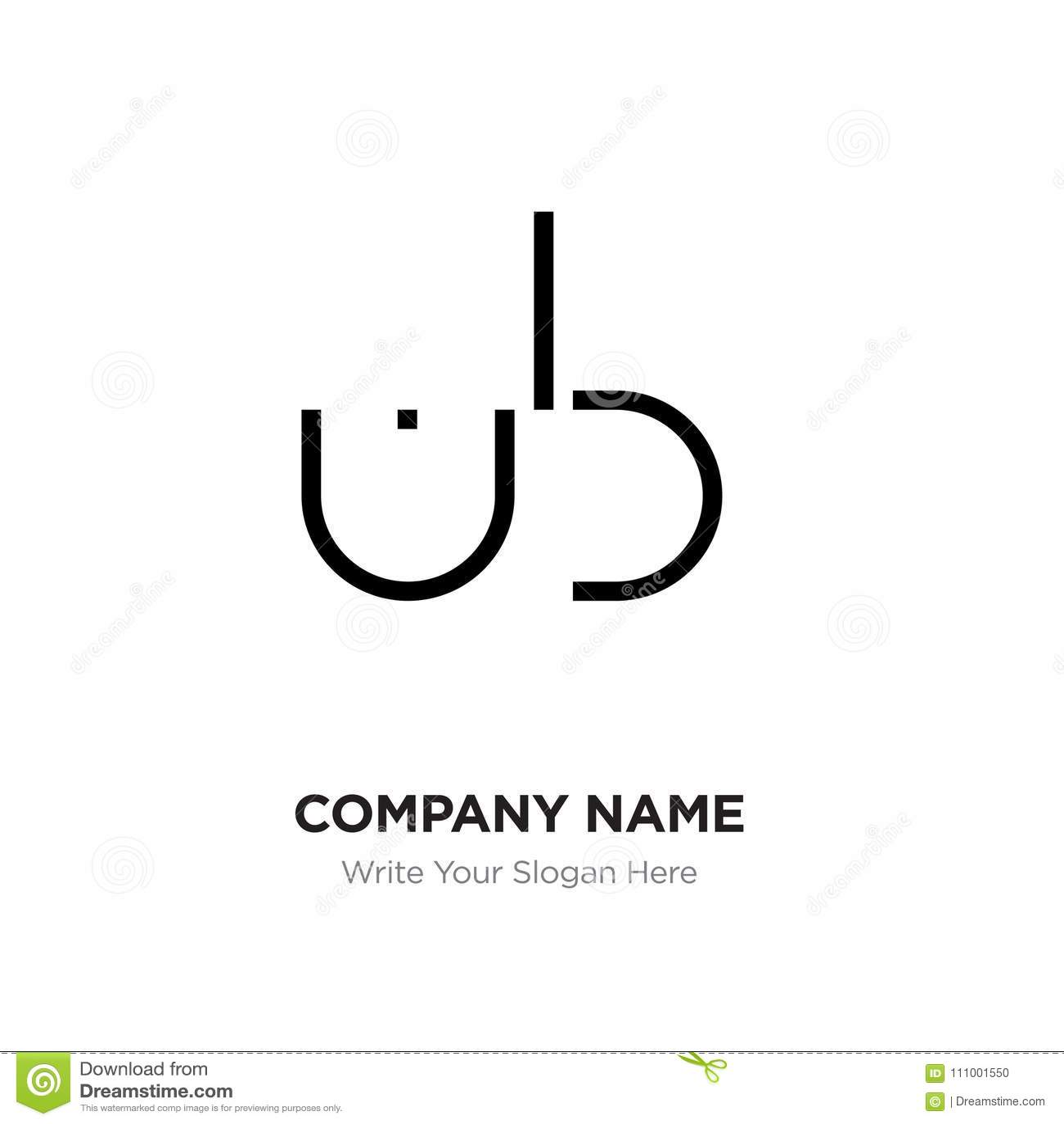 abstract letter bu,ub logo design template, black alphabet initi, Ub Presentation Template, Presentation templates