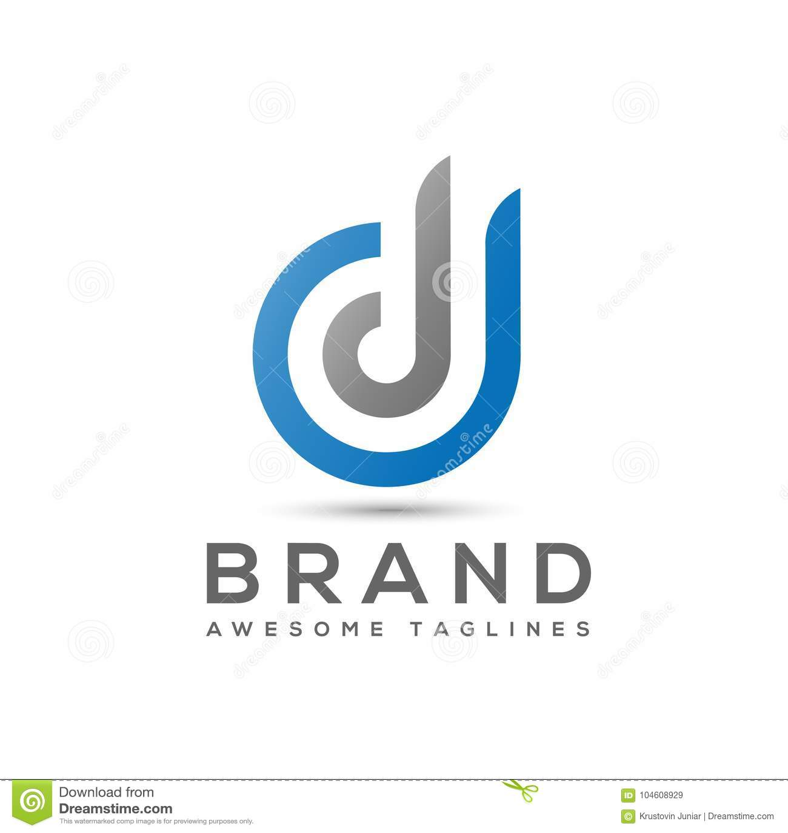Abstract Letter D Logo, Letter Dd Logo Vector Stock Vector ...