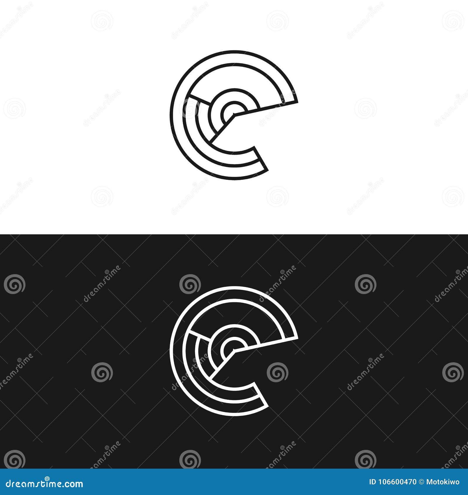 Abstract Letter E Logo Design Idea Stock Vector Illustration Of