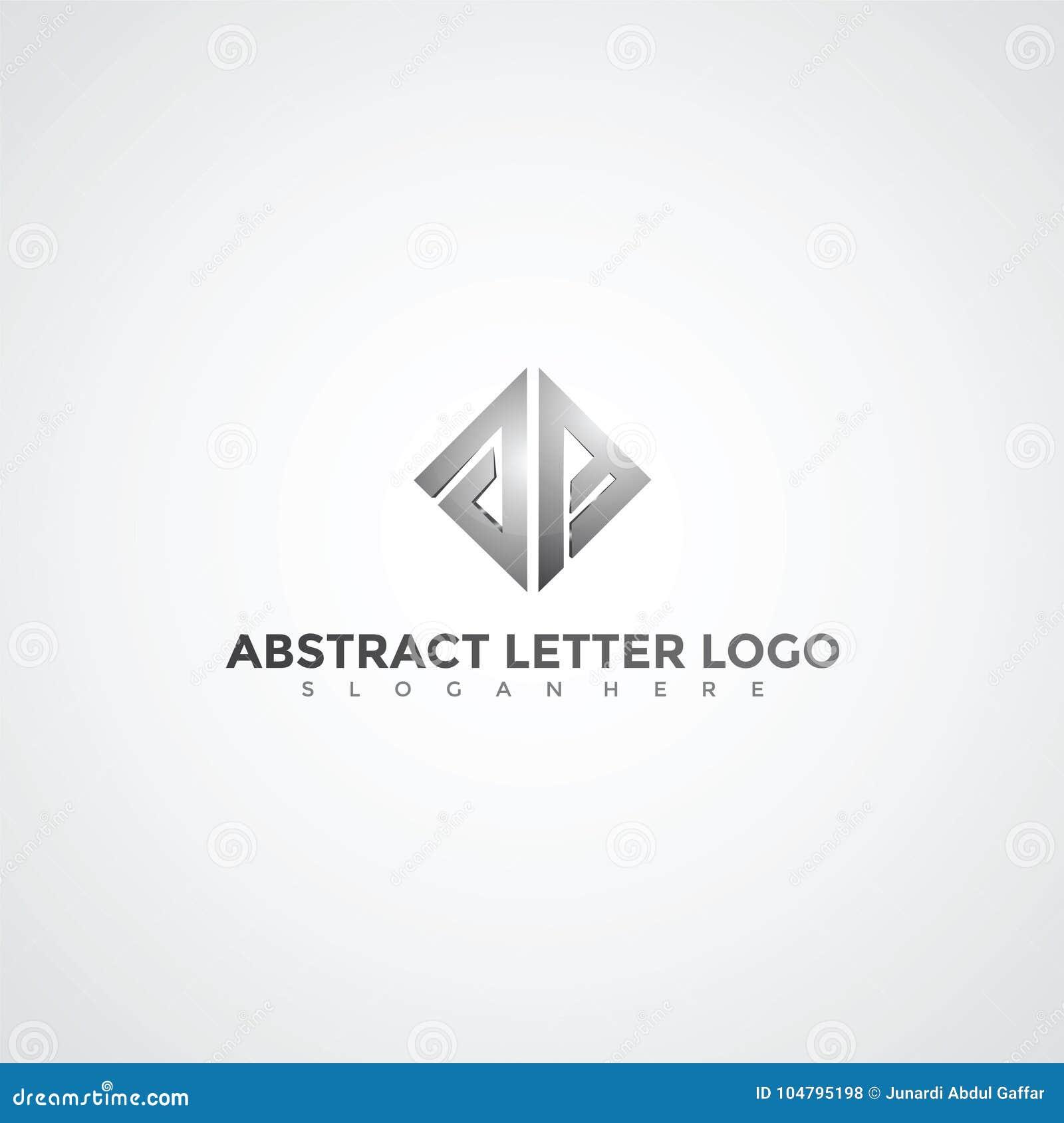 Logo Template   Abstract Letter Logo Template Vector Illustrator Eps 10 Stock
