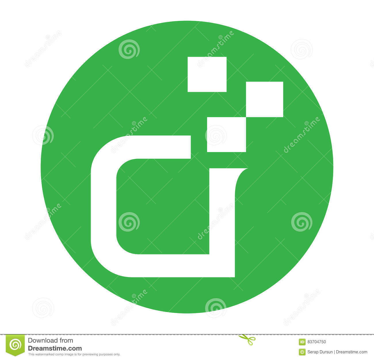 Abstract Letter Logo Stock Vector