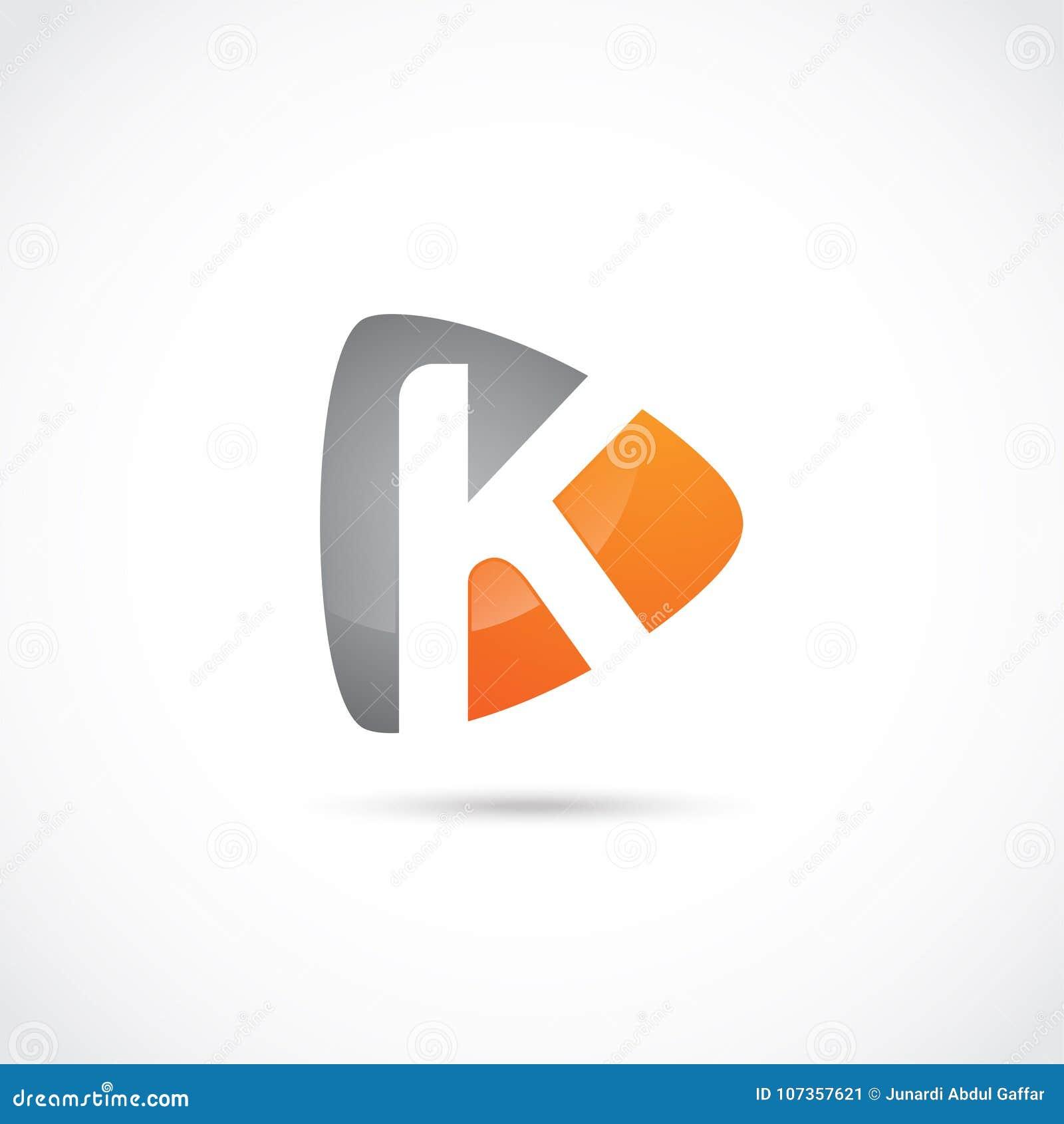 Abstract Letter K Logo Design Vector Illustrator Eps 10