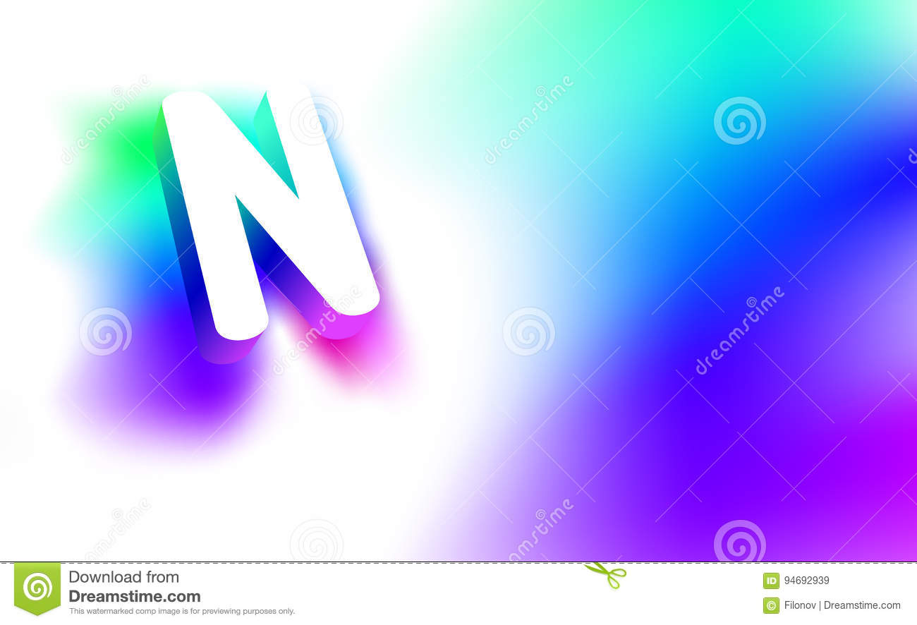abstract letter n template of creative glow 3d logo corporate identity of company or brand