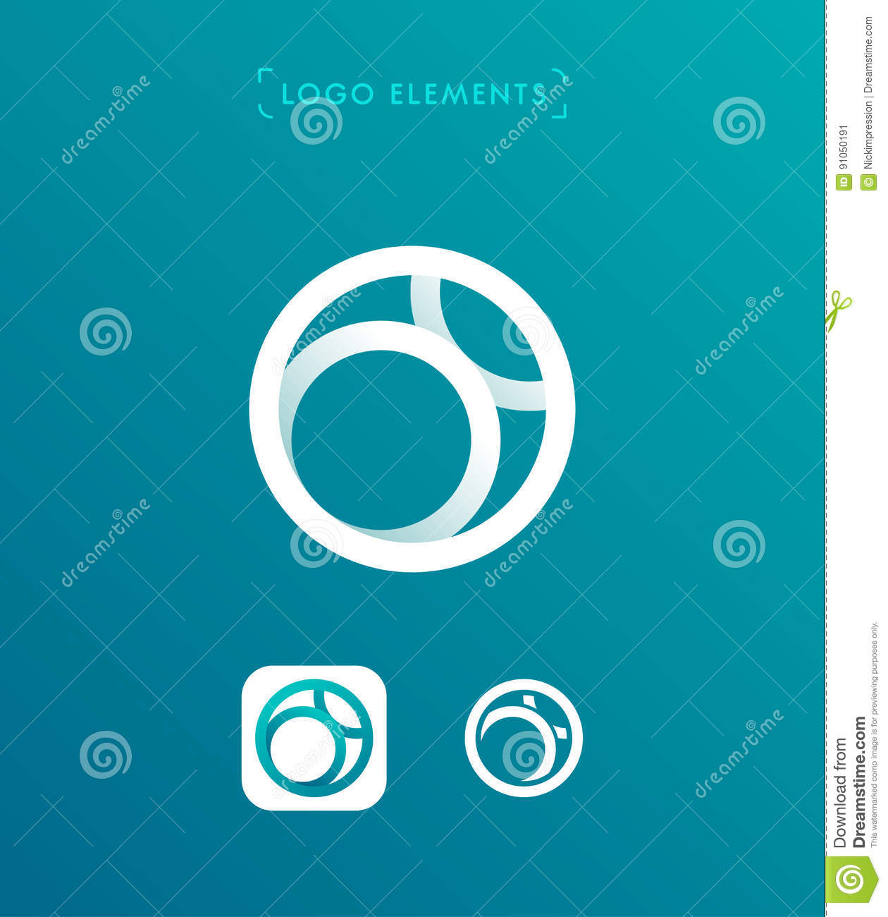 Abstract Letter O Origami Style Logo Template. Circle