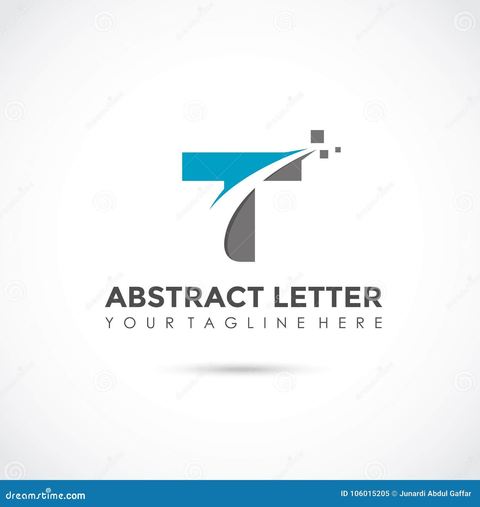 e923babf0e36b4 Abstract Letter T Logo Design. Vector Illustrator Eps. 10 Stock ...