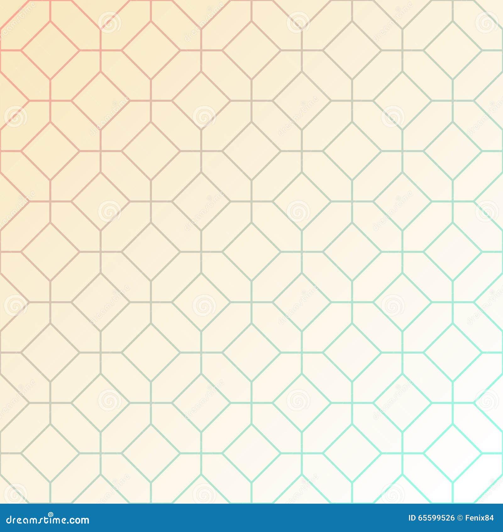Abstract licht geometrisch patroon van het snijden van achthoeken en vierkanten