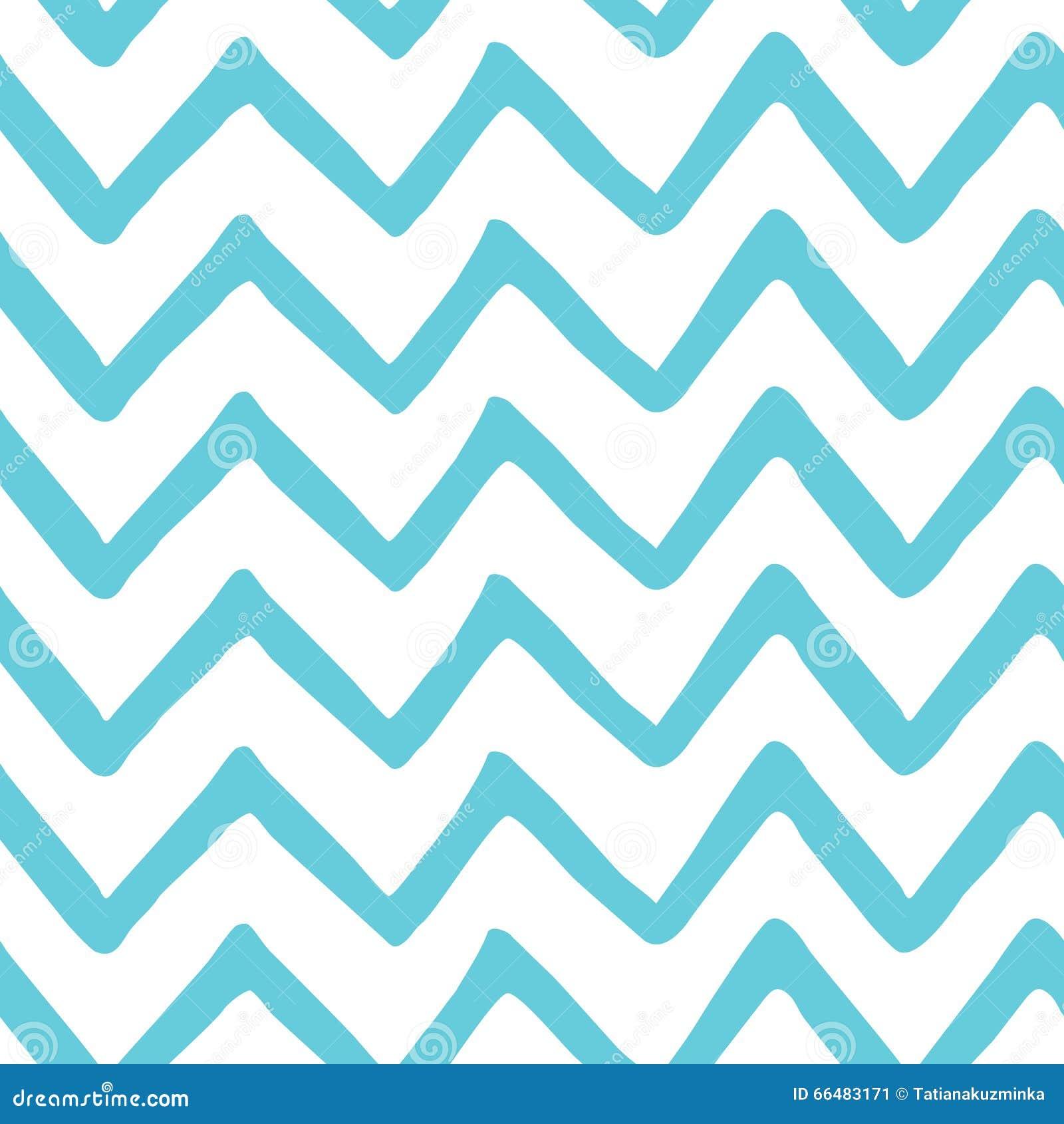 Abstract lichtblauw zigzag naadloos hand geschilderd patroon Aard overzeese stoffentextuur De vectorachtergrond van de malplaatje