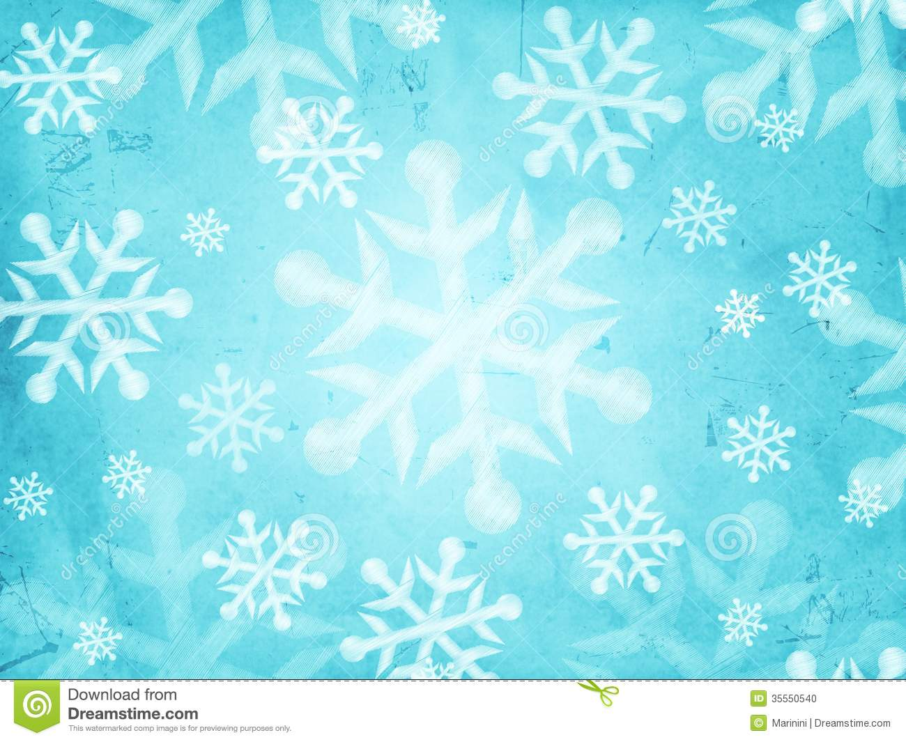 abstract light blue background with snowflakes stock illustration
