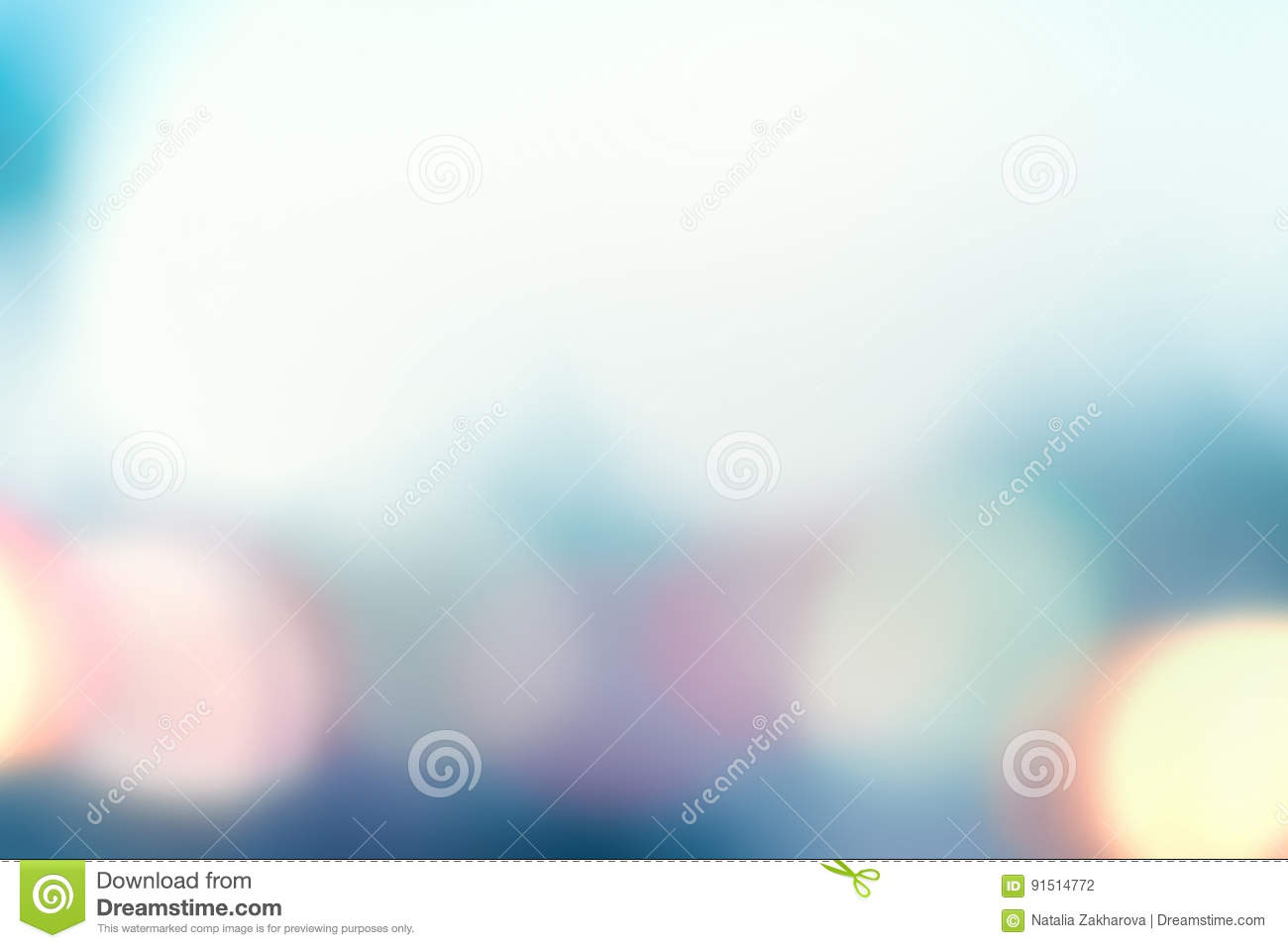 Abstract light blue background with soft bokeh