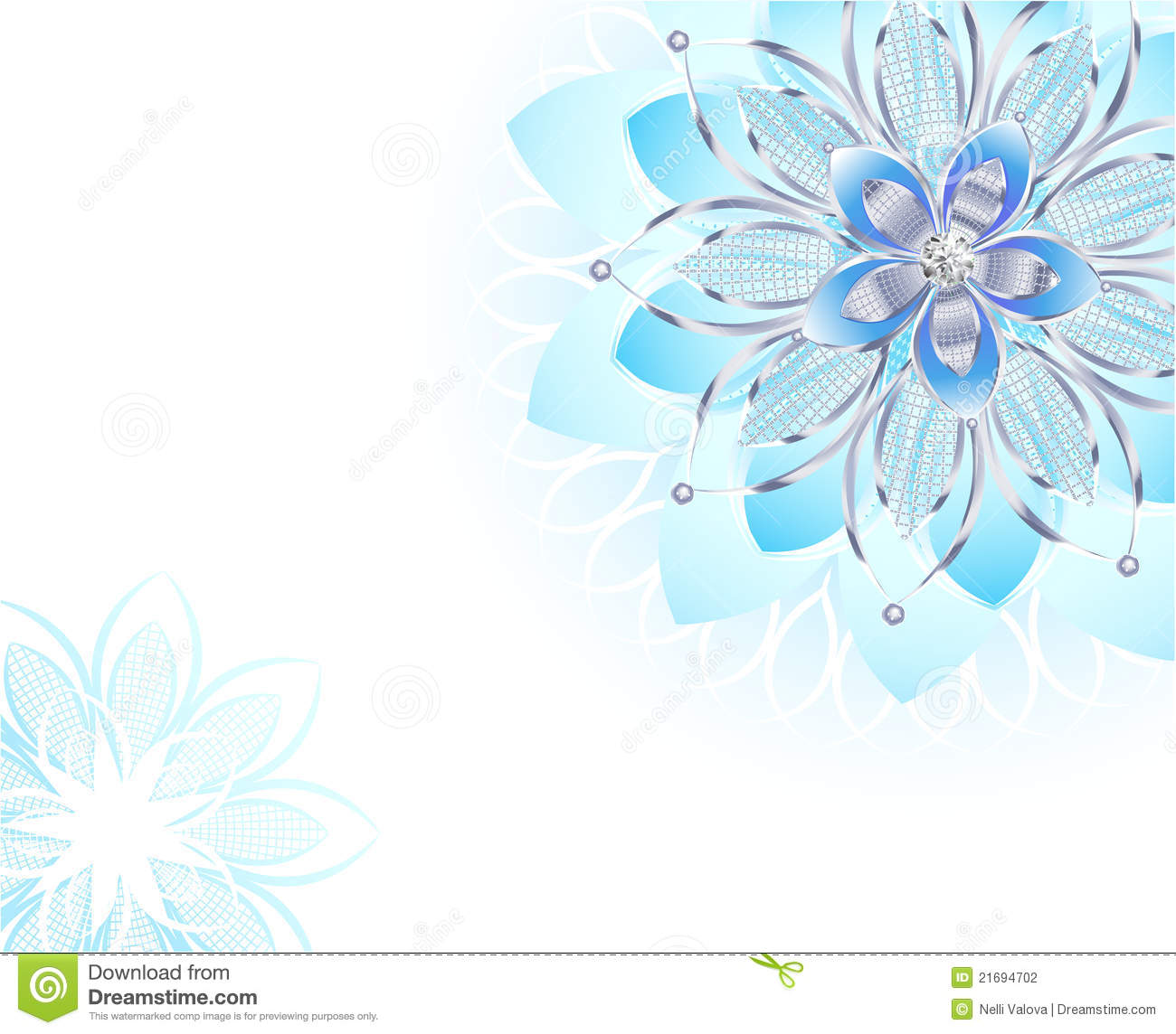 Abstract Light Blue Flower Stock Vector Illustration Of Delicate