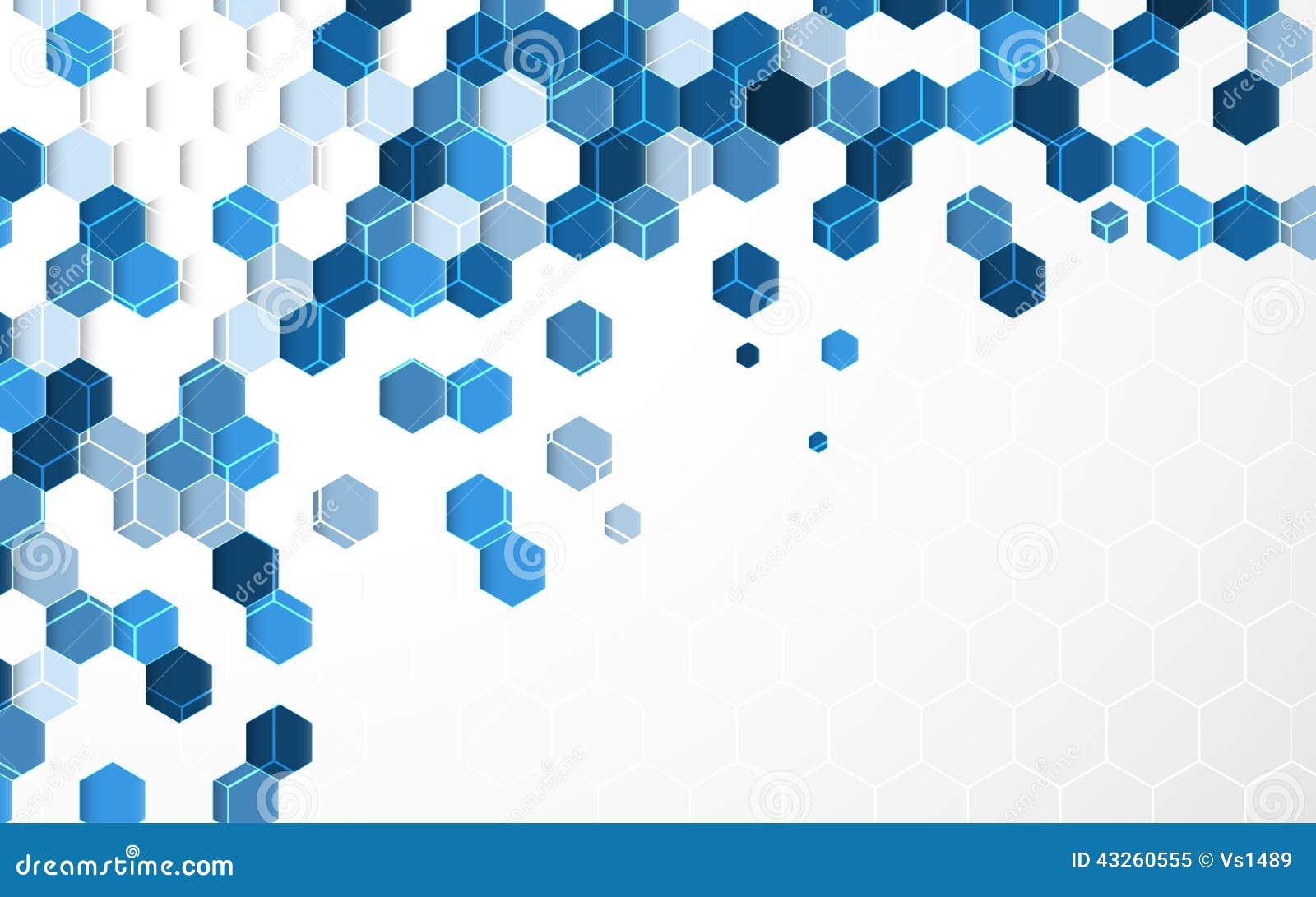 wallpaper blue hexagon white - photo #13