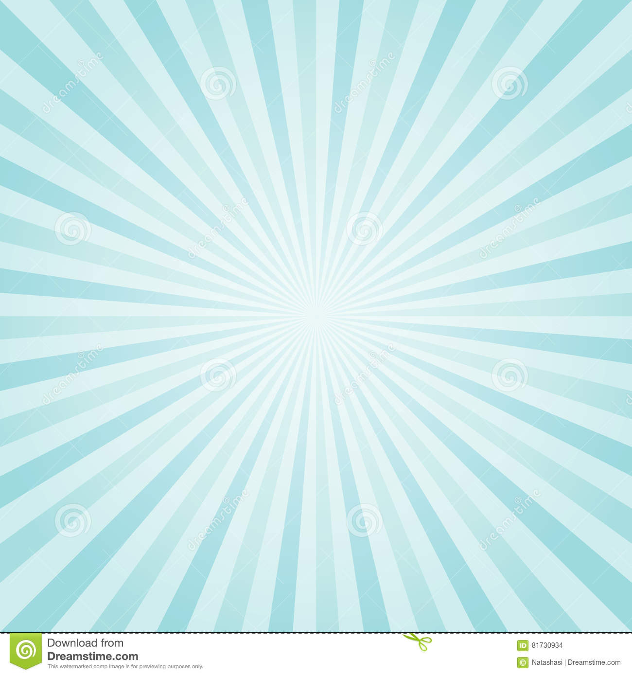 Abstract light Blue Turquoise rays background. Vector