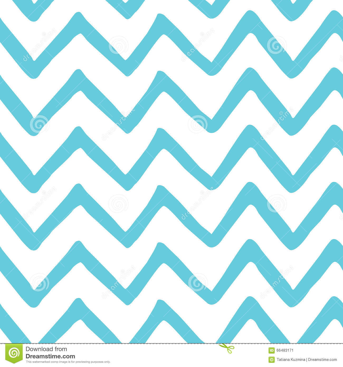 image about Printable Chevron Pattern called Summary Light-weight Blue Zig Zag Seamless Hand Painted Behavior