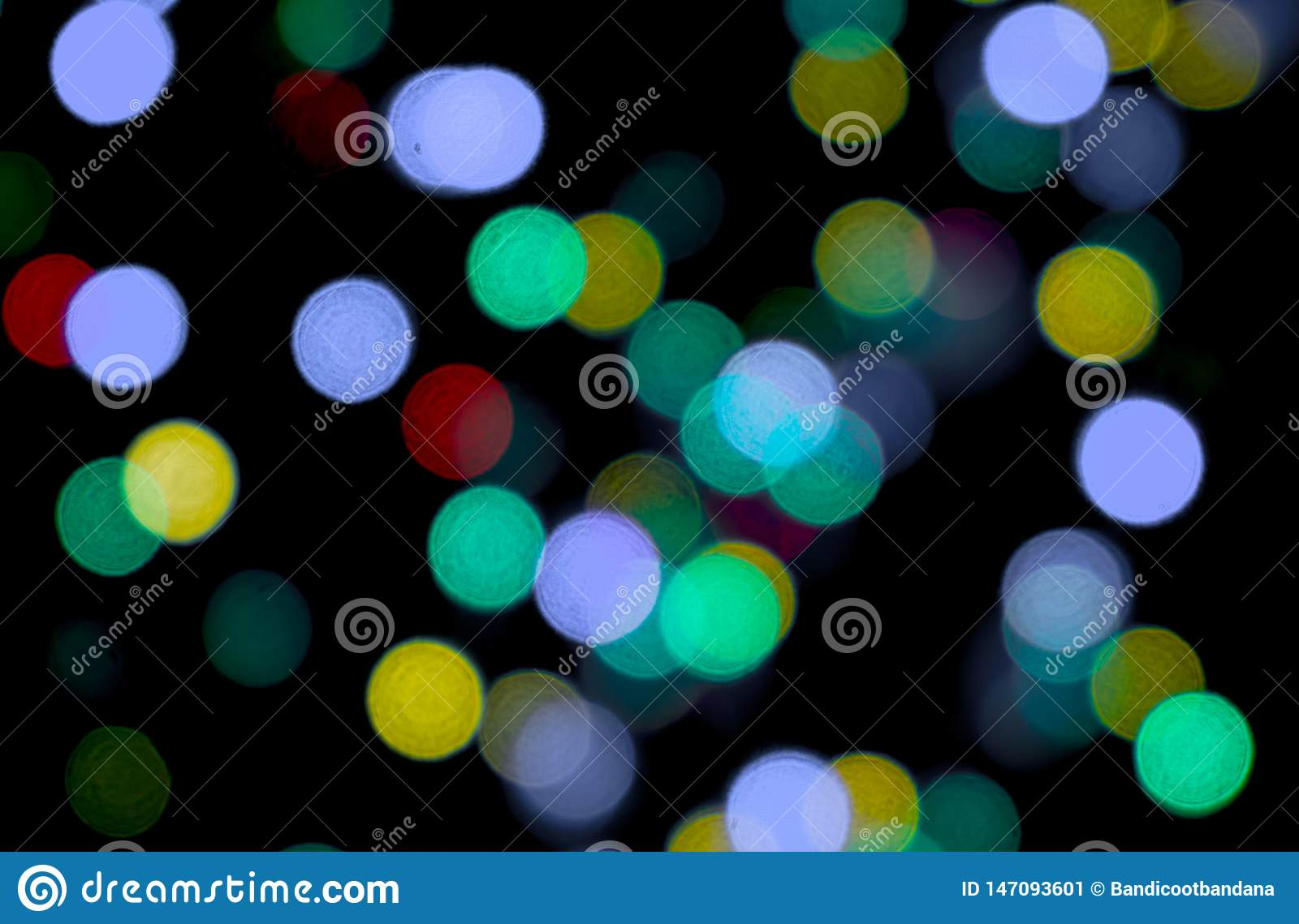 Abstract Light Bokeh Colorful On Black Background Using As A