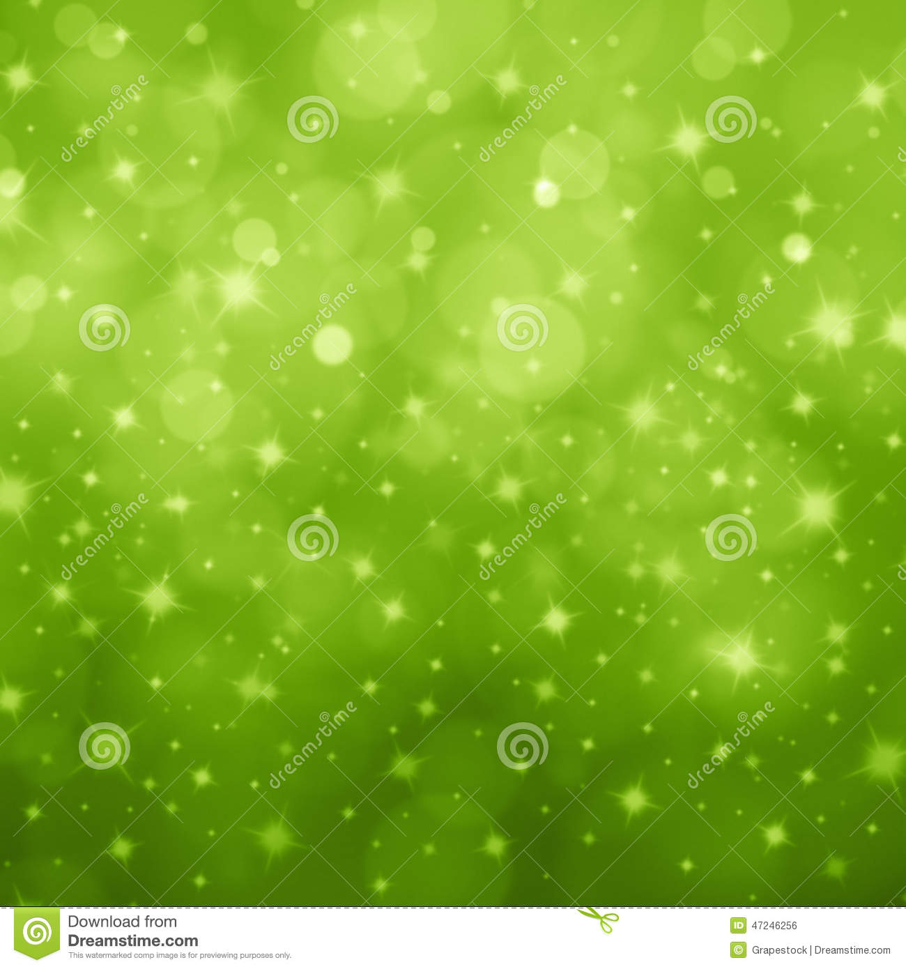 abstract light green bokeh star stock photo image 47246256