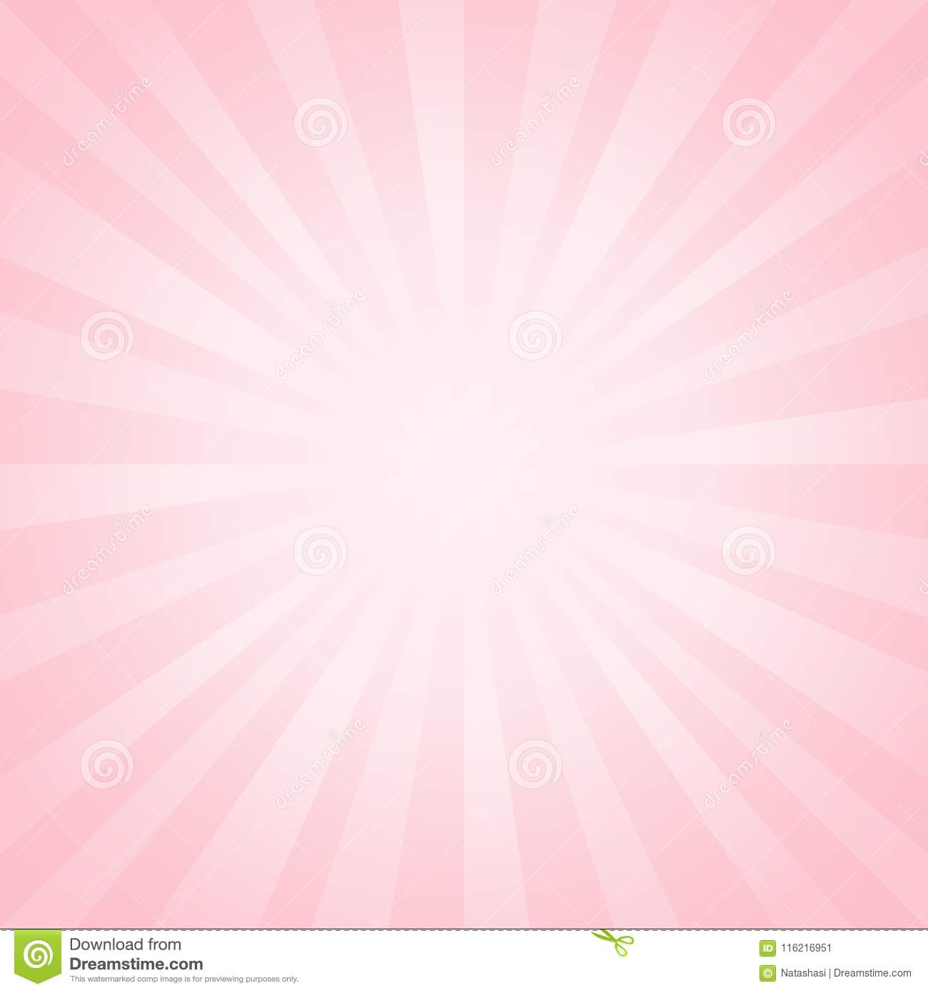 Abstract light soft Pink rays background. Vector