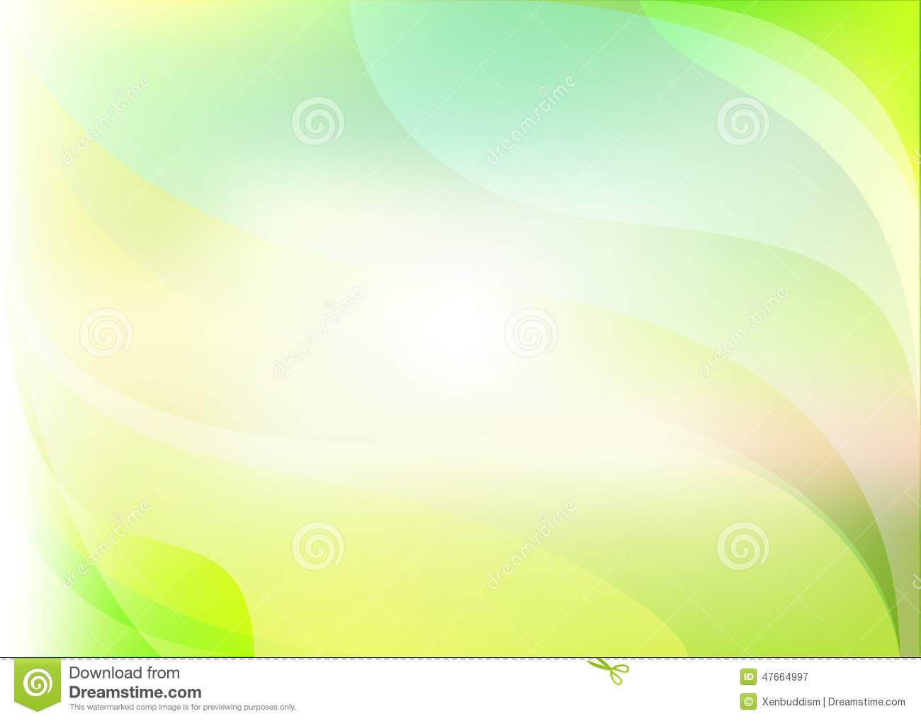 abstract light yellow green background stock illustration